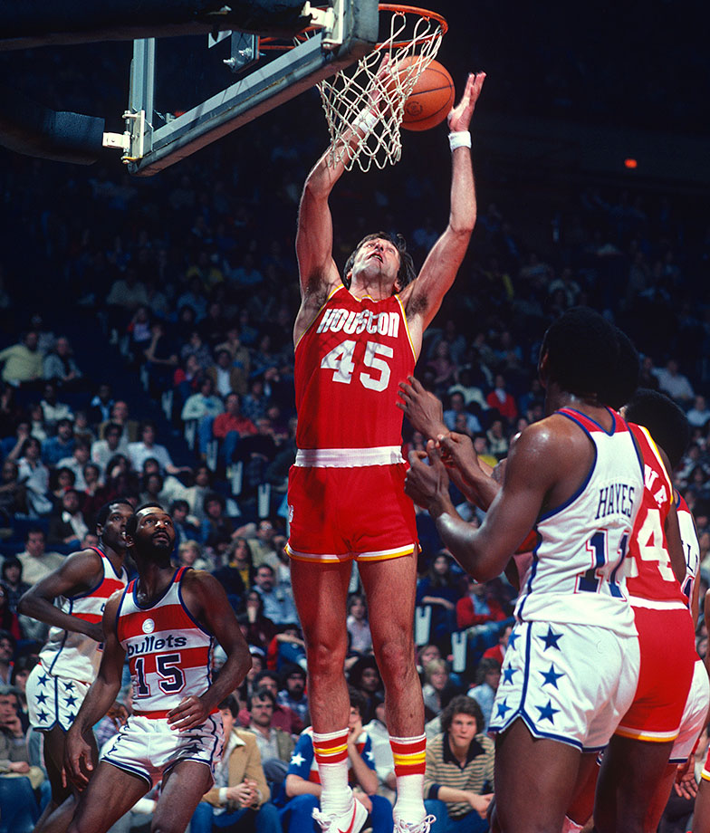"The No. 2 overall pick in the 1970 NBA draft, Rudy Tomjanovic is the third leading scorer in Rockets franchise history behind only Calvin Murphy and Hakeem Olajuwon. A five-time All-Star, Tomjanovic's last name was so long, the back of his jersey often read, ""Rudy T."" — Runner-up: A.C. Green"
