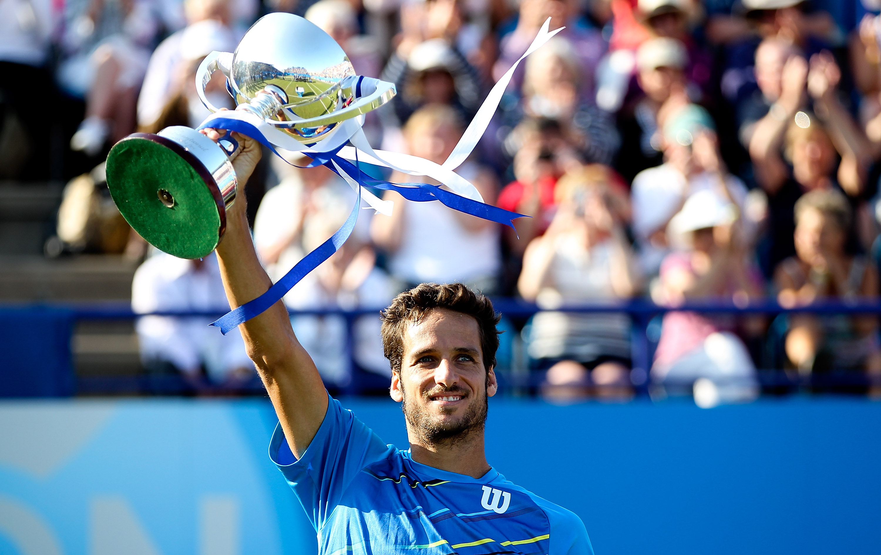 Feliciano Lopez wins the Aegon International in Eastbourne.