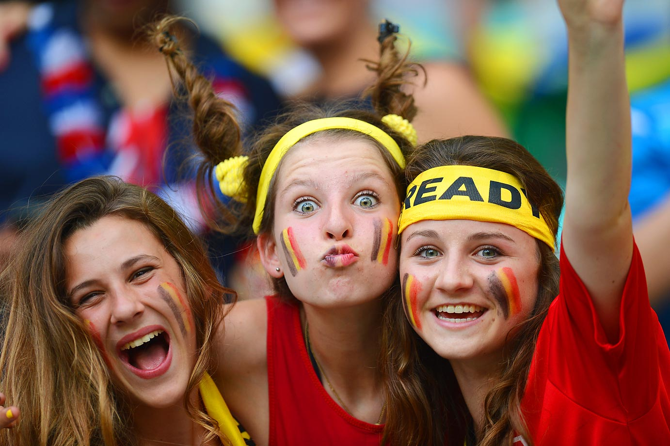 Belgium fans soak up the atmosphere prior to the game against the U.S.