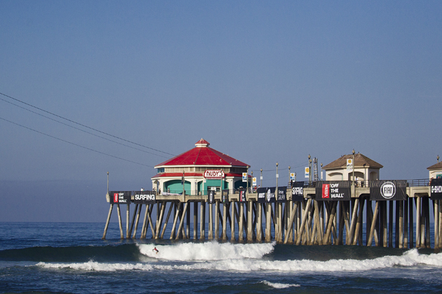 Great conditions at the Vans US Open of Surfing in Huntington Beach, California.