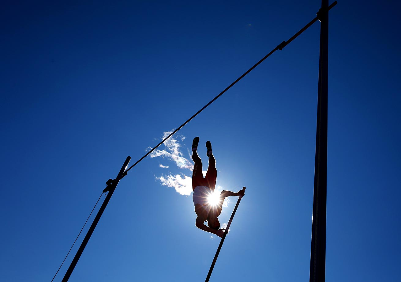 Silver-medalist Pawel Wojciechowski of Poland competes in the pole vault final at the 22nd European Athletics Championships in Zurich.