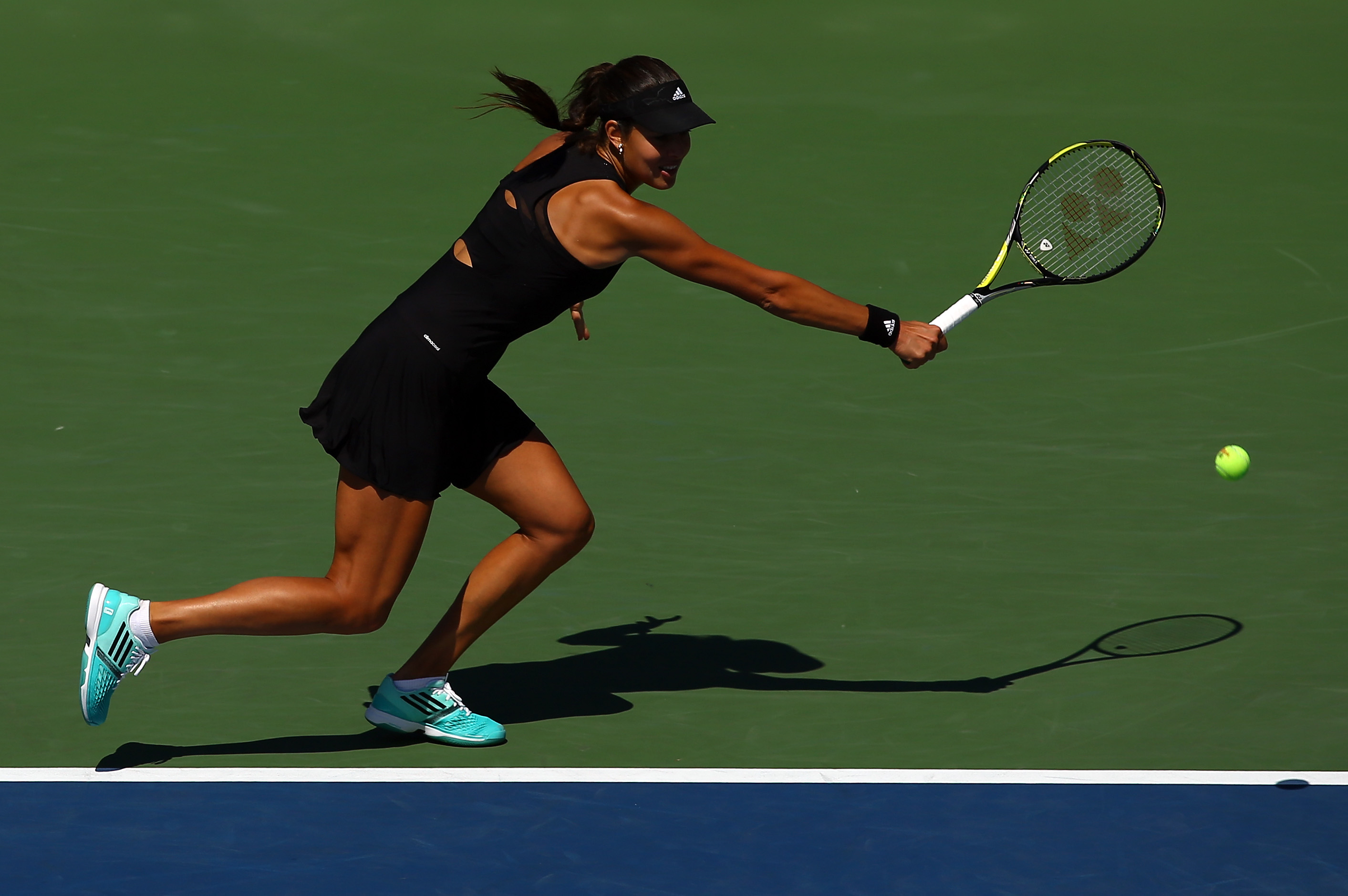 Ivanovic's Adidas little black dress was perfect.