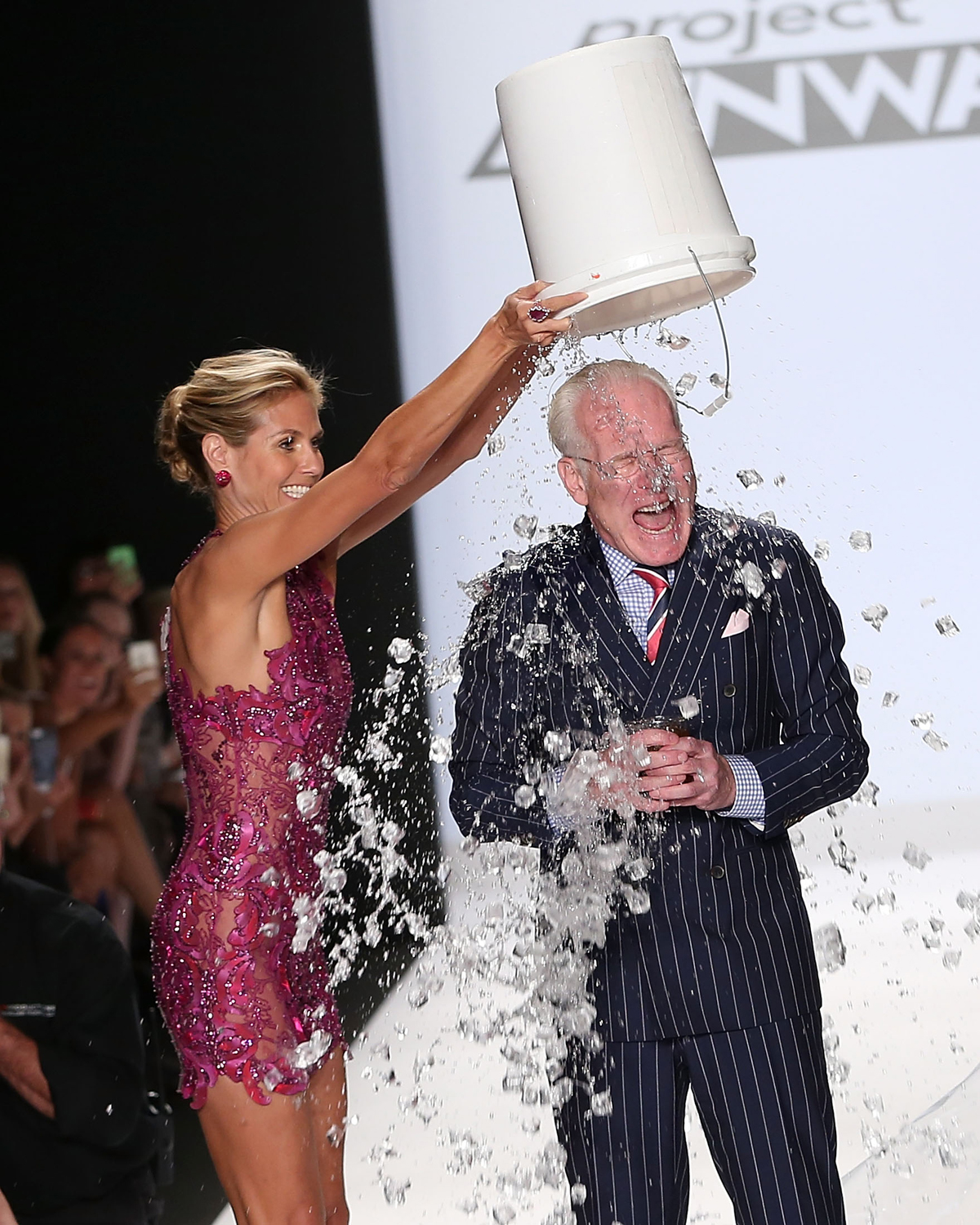Heidi Klum with Tim Gunn at Project Runway Finale