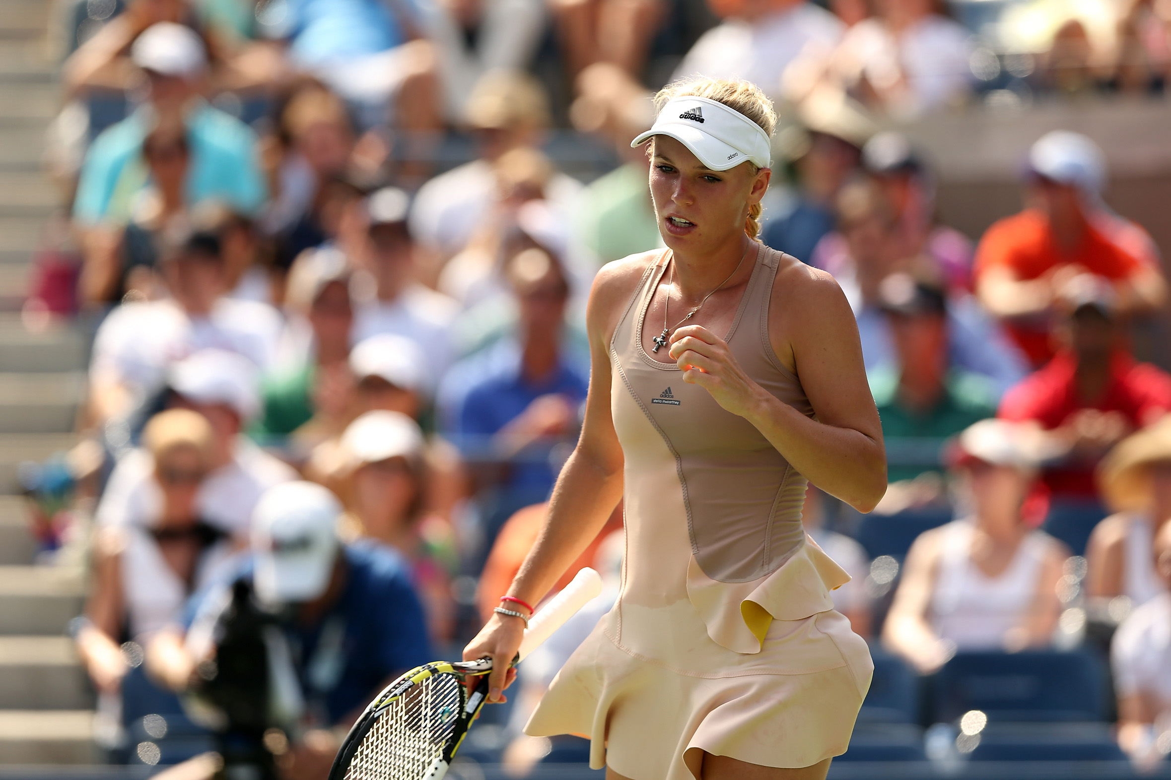 Despite being bogged down by a useless ruffle, Wozniacki finds herself back in a Slam final.