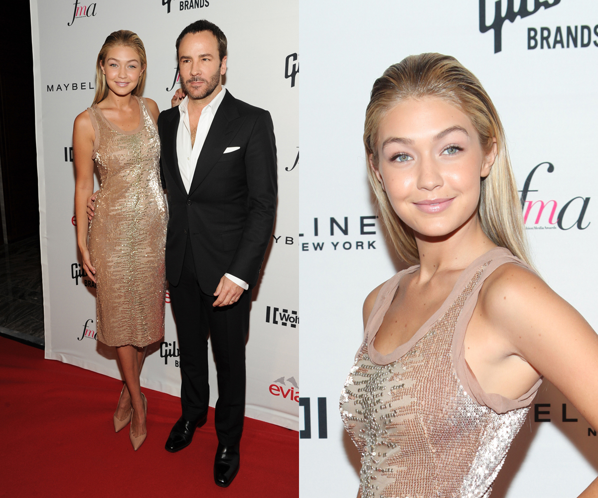 Gigi Hadid with Tom Ford at The Daily Front Row awards