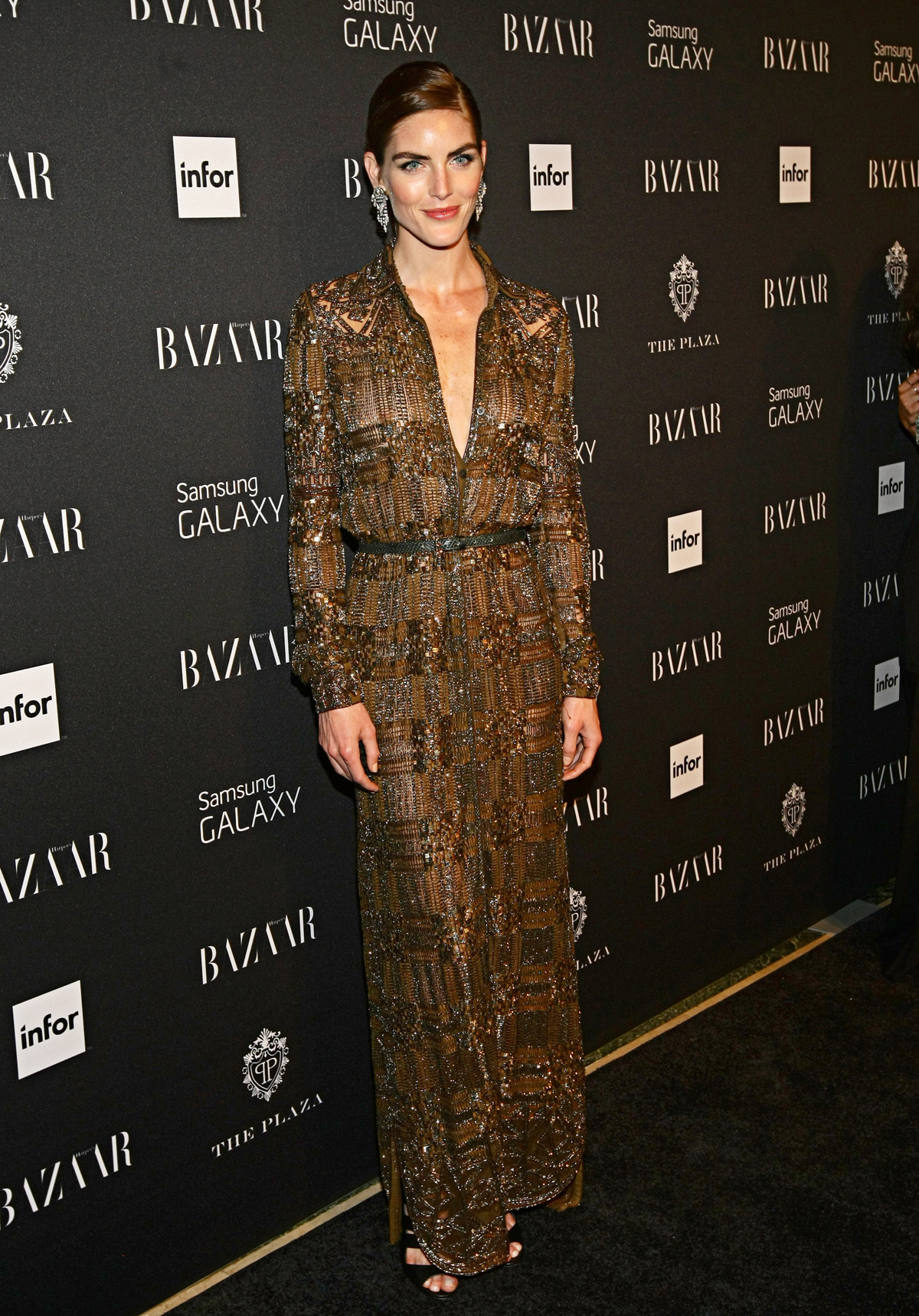 Hilary Rhoda at the Harper's Bazaar Icons Party
