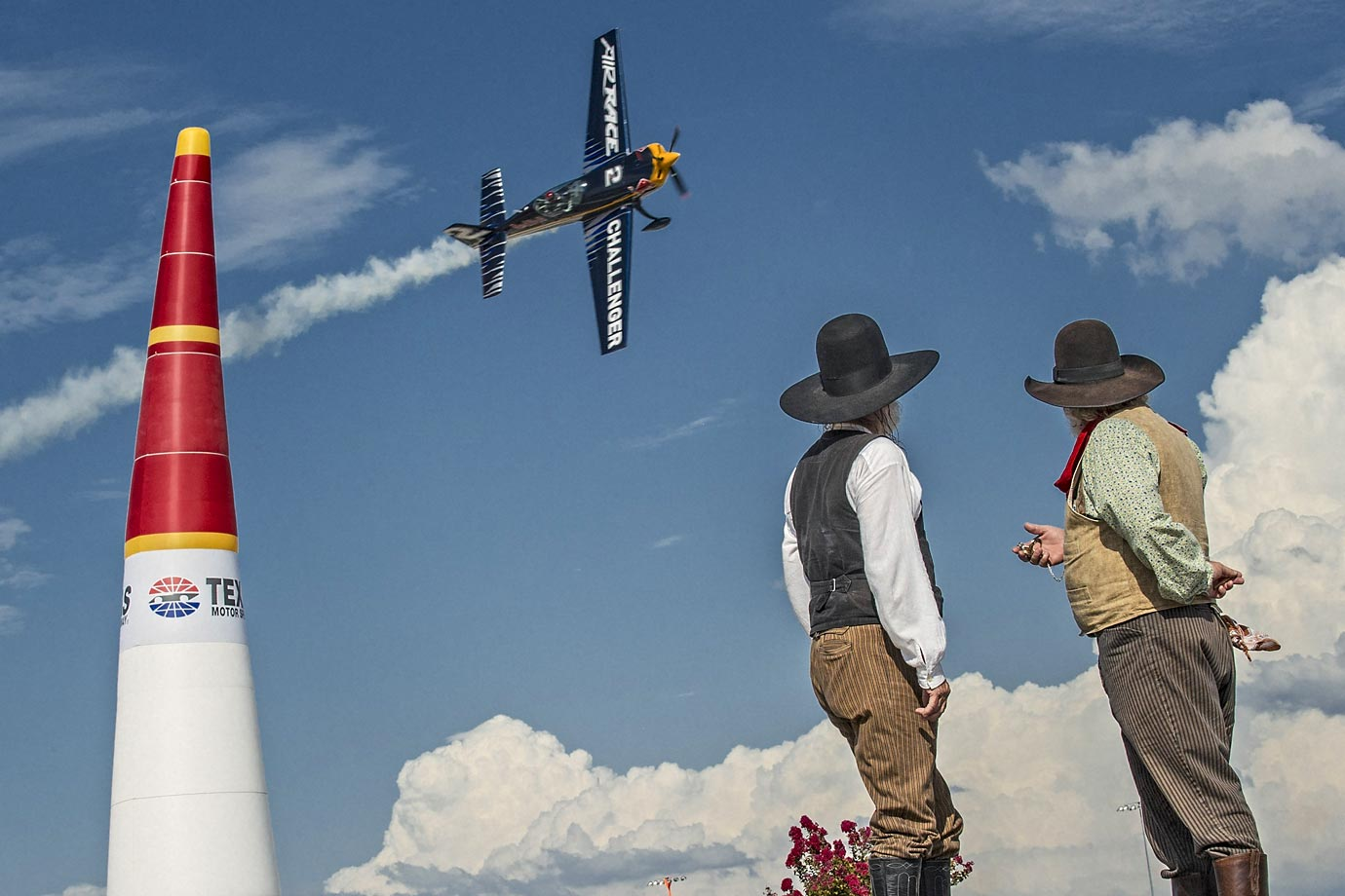 A Challenger pilot performs during the Challengers Cup in Texas.