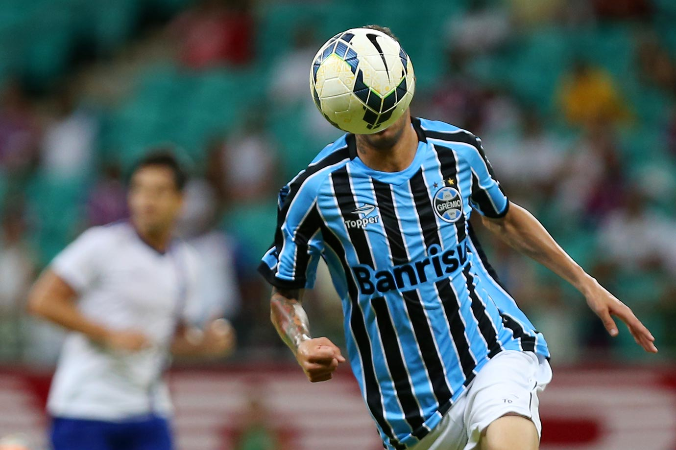 Luan of Gremio during the match between Bahia and Gremio.