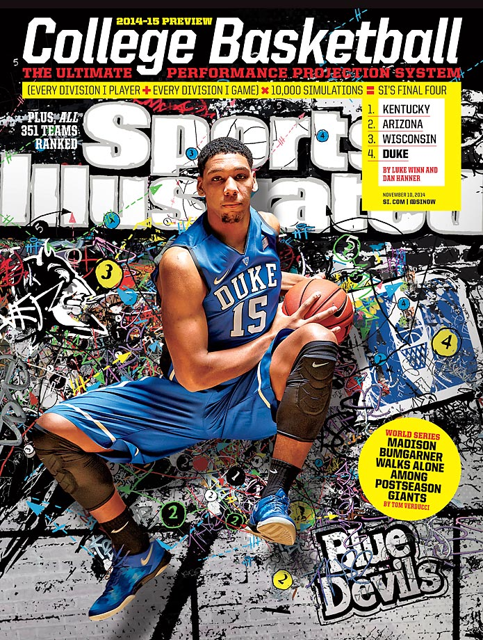 November 10, 2014 | Freshman Jahlil Okafor and the Blue Devils have the nation's No. 1 recruit class and will look to avoid last season's disappointment after losing in the first round of the NCAA Tournament to Mercer.
