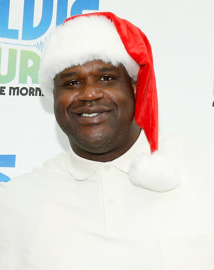 Shaquille O'Neal during his visit to The Elvis Duran Z100 Morning Show.