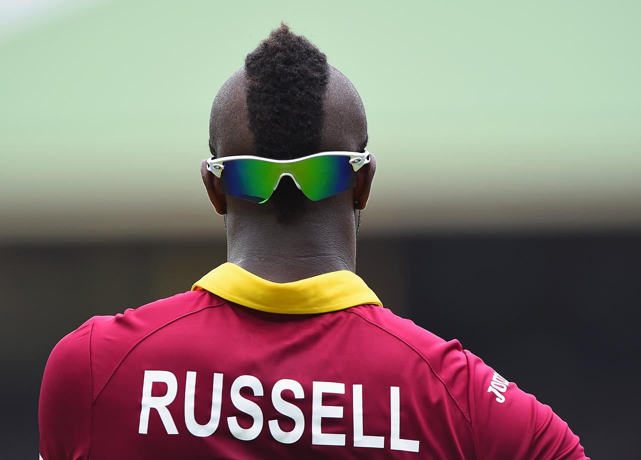 Eyes on the back of his head... during the ICC Cricket World Cup warm up match between England and the West Indies in Sydney, Australia.