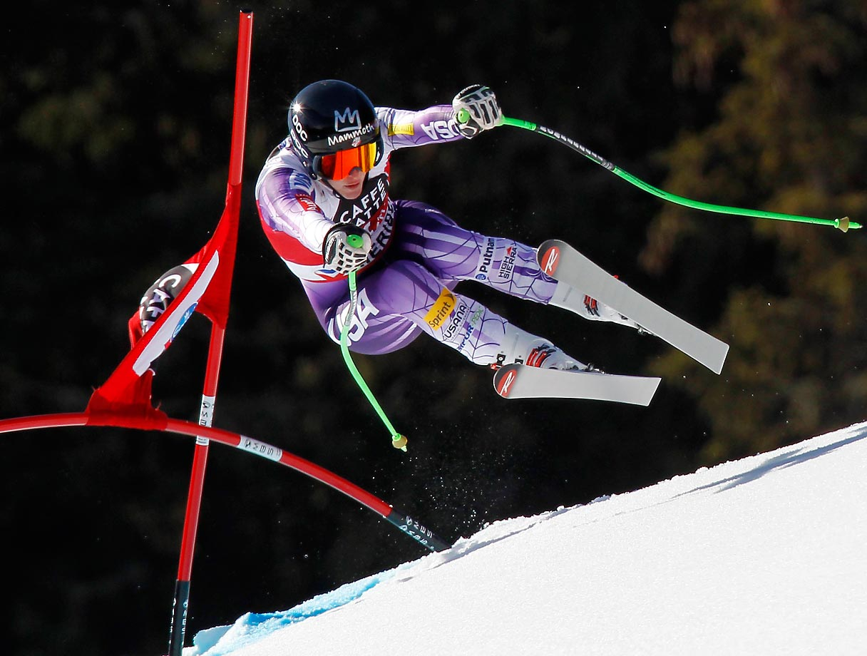 Stacey Cook of the U.S. competes during theWorld Cup Finals Downhill in Meribel, France.