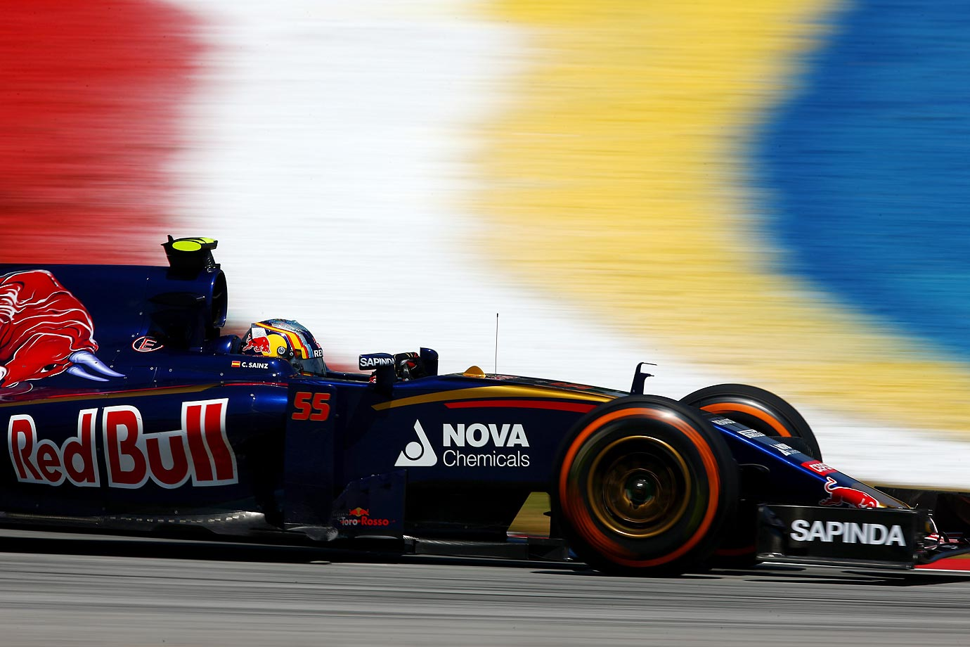 Scuderia Toro Rosso driver Carlos Sainz of Spain speeds through practice laps ahead of last weekend's Malaysia Formula One Grand Prix.