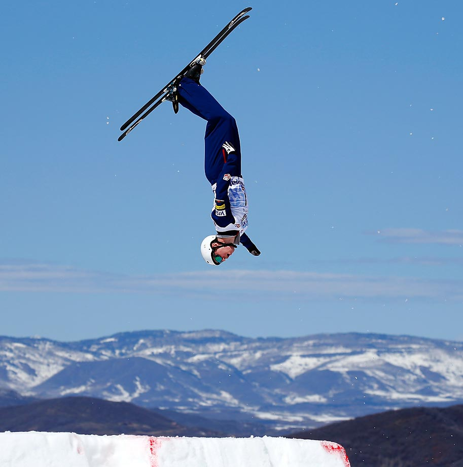 Mac Bohonnon soars to first place in the aerials at the 2015 U.S. Freestyle Ski National Championships in Steamboat Springs, Colorado.