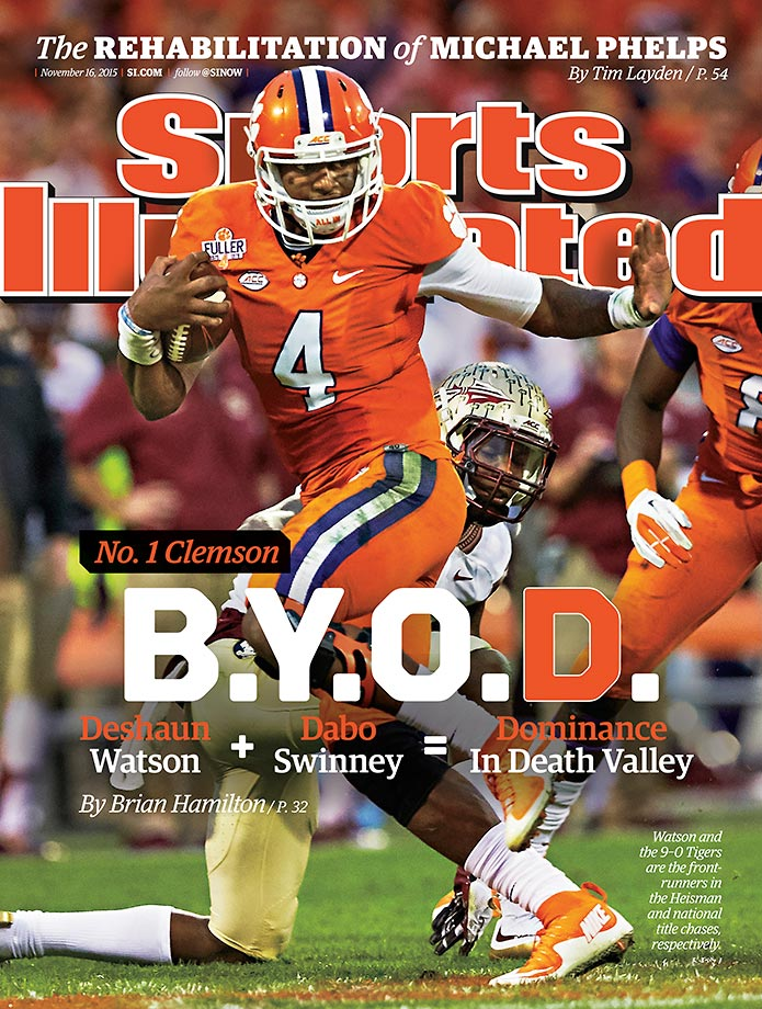 November 16, 2015 | Regional Cover: When not coining acronyms, Dabo Swinney is building the nation's #1 team, which is why Clemson is on the cover of the mid-November issue of SI.
