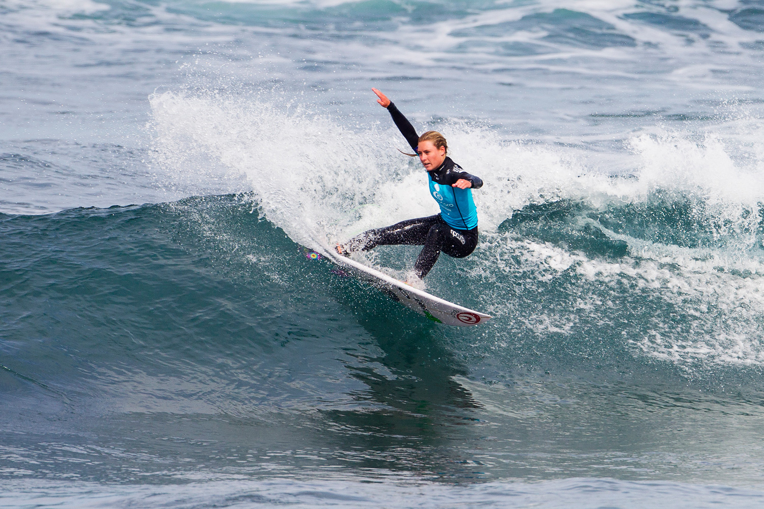 Niki Van Dijk surfs to victory during the first day of the Rip Curl Women's Pro at Bells Beach.
