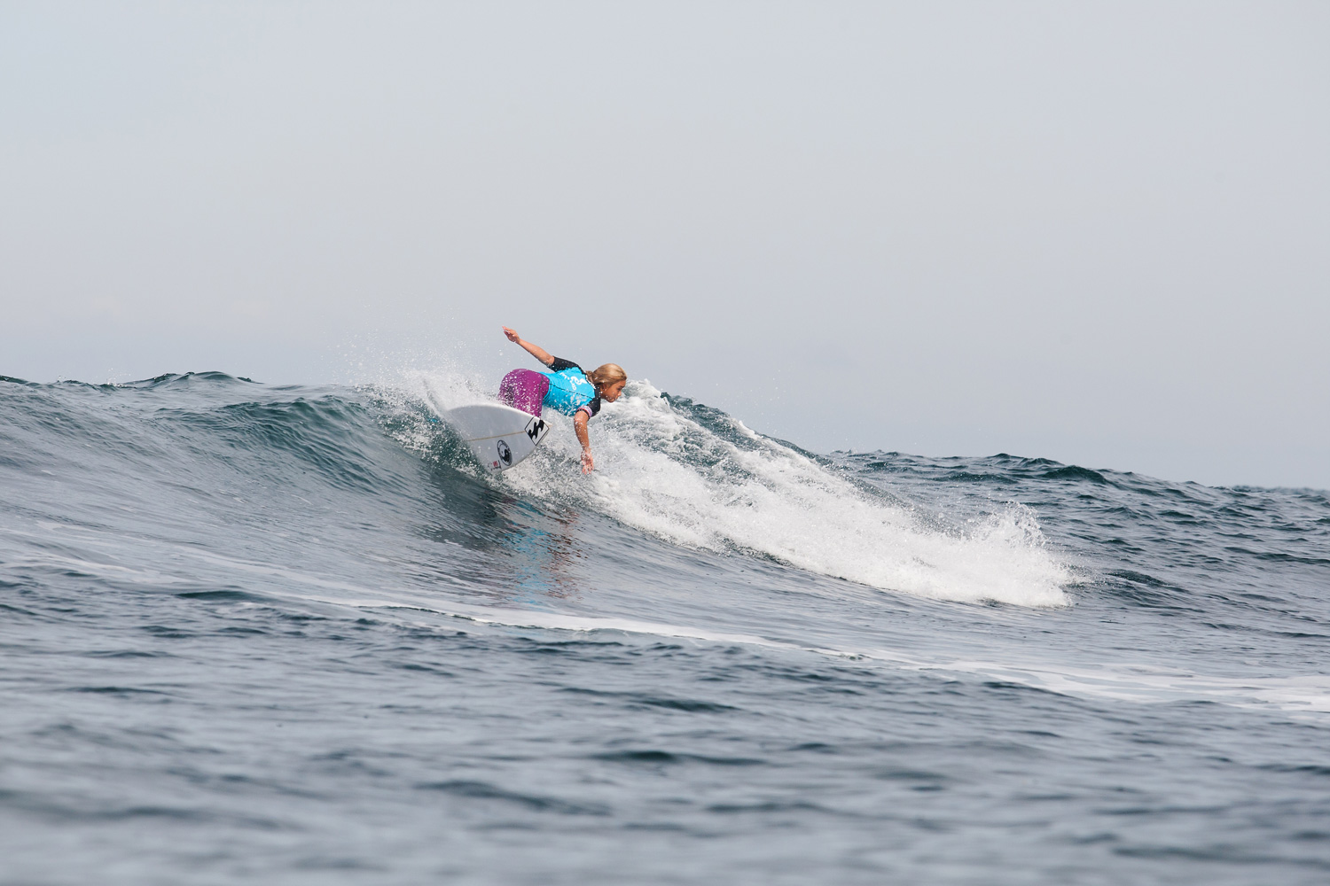 Alessa Quizon placed third in her Rip Curl Pro first round heat on April 16, 2014 in Bells Beach, Australia.