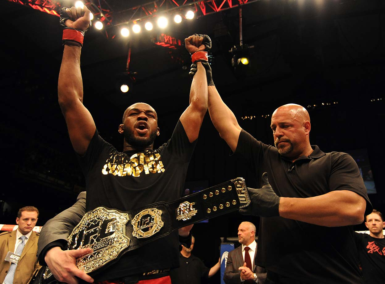 Jones defeated Glover Teixeira at UFC 172 on April 26 to retain his light heavyweight championship for the seventh time.