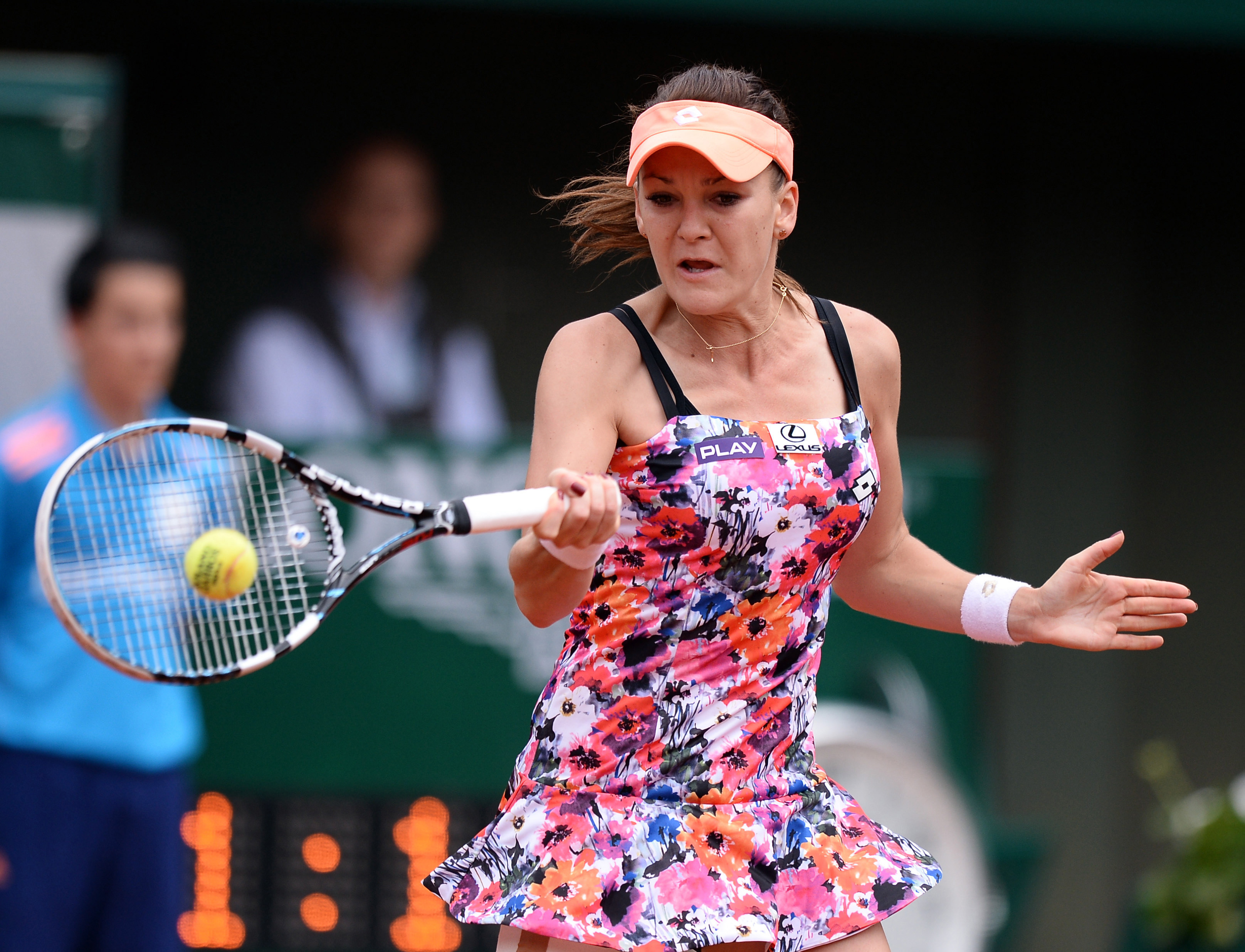 Radwanska's flower power kit from Lotto was less than flattering at the French Open.