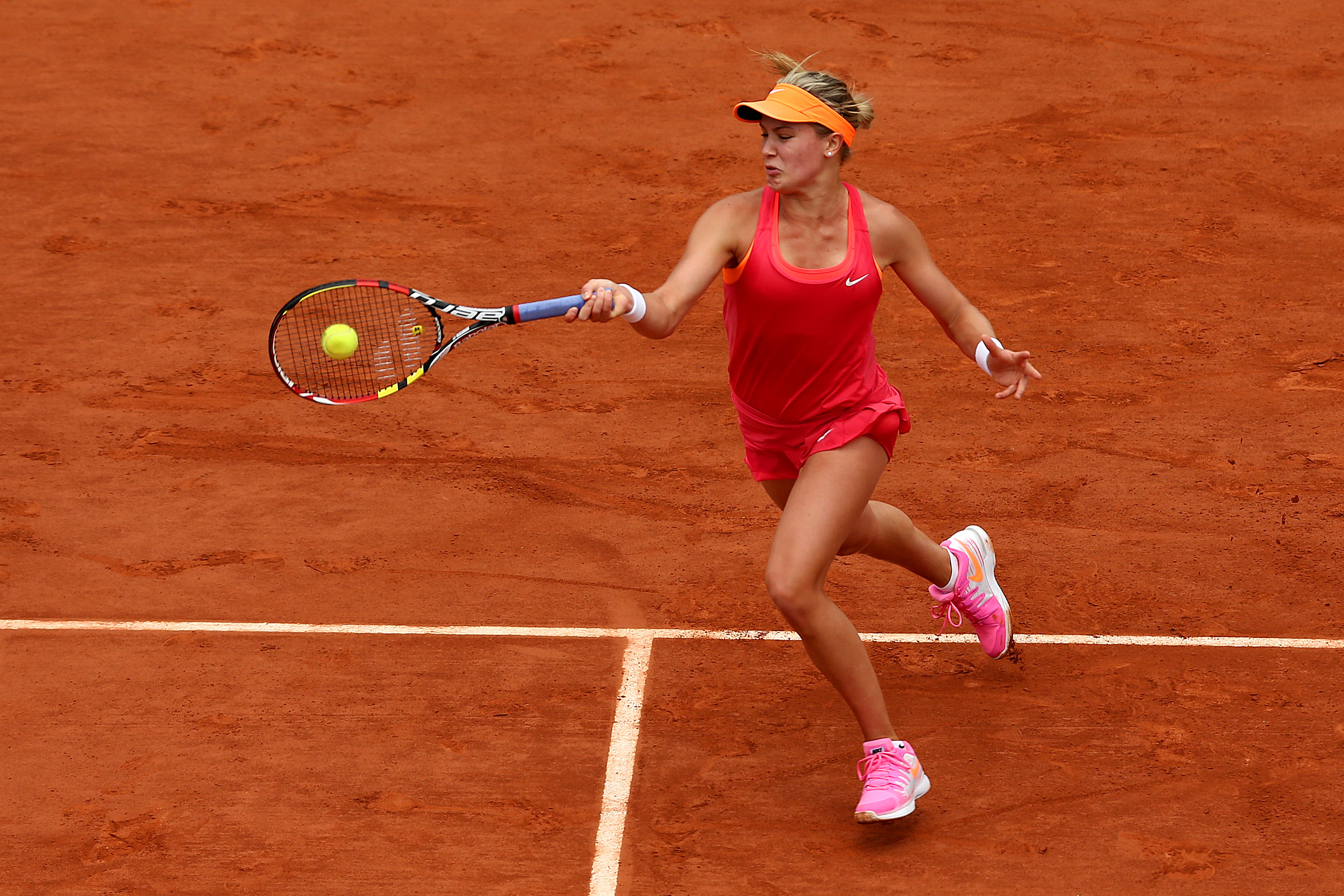 Bouchard was perfect in Nike pink at the French Open.