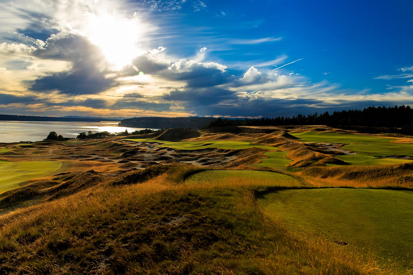 The par-4 14th Hole at Chambers Bay is known as 'Cape Fear', and features a downhill tee shot on a hole that could measure as long as 546 yards.