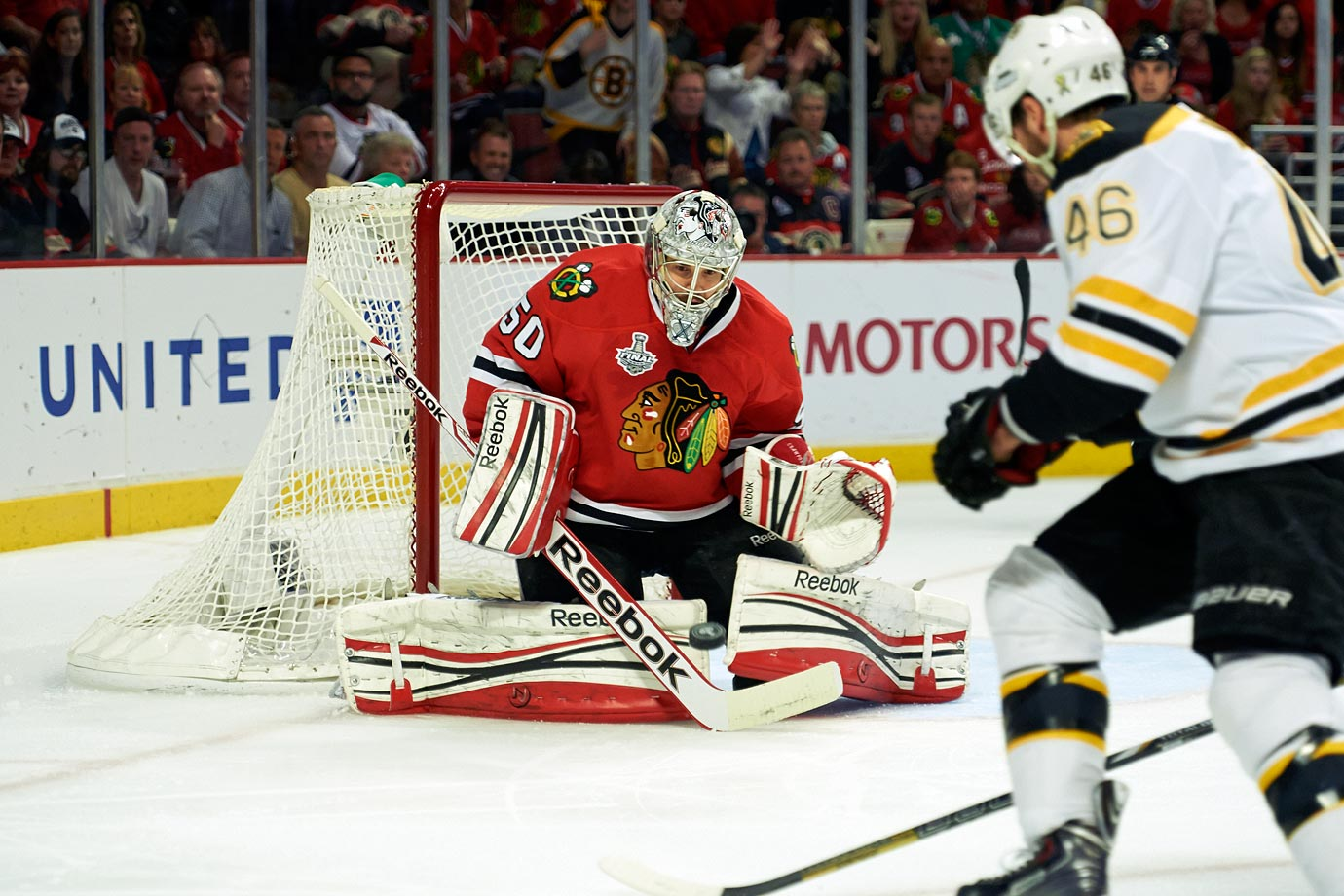 After leading the Blackhawks to two Stanley Cups in the past three seasons, and claiming a pair of Jennings Trophies along the way, Crawford has turned a spare training camp number into one that young goalies are clamoring for.