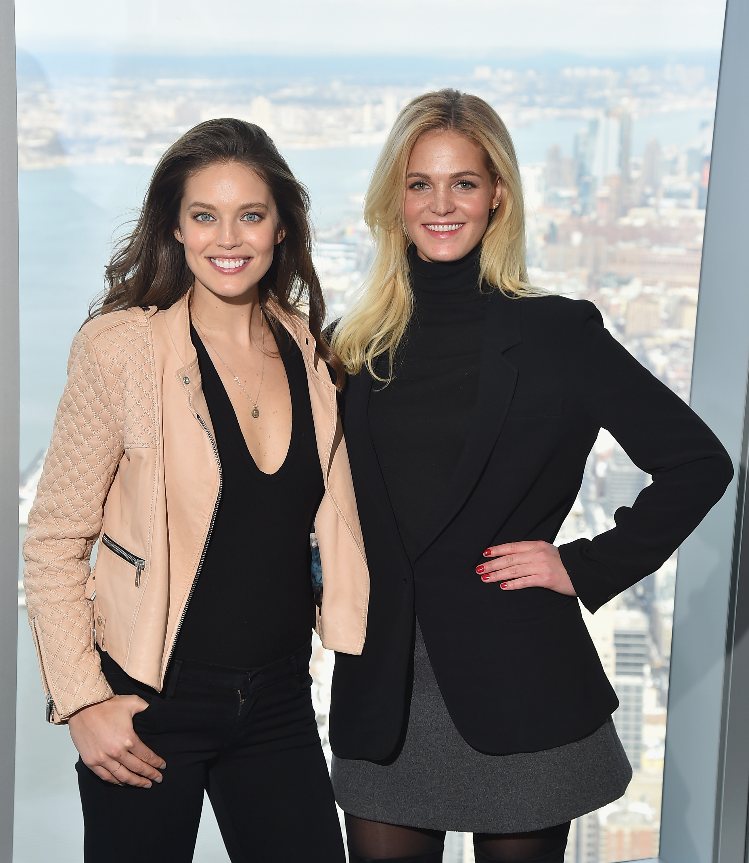 Sports Illustrated Swimsuit Models Emily DiDonato and Erin Heatherton reveal SI Swimsuit 2016 launch week events in New York City at One World Observatory