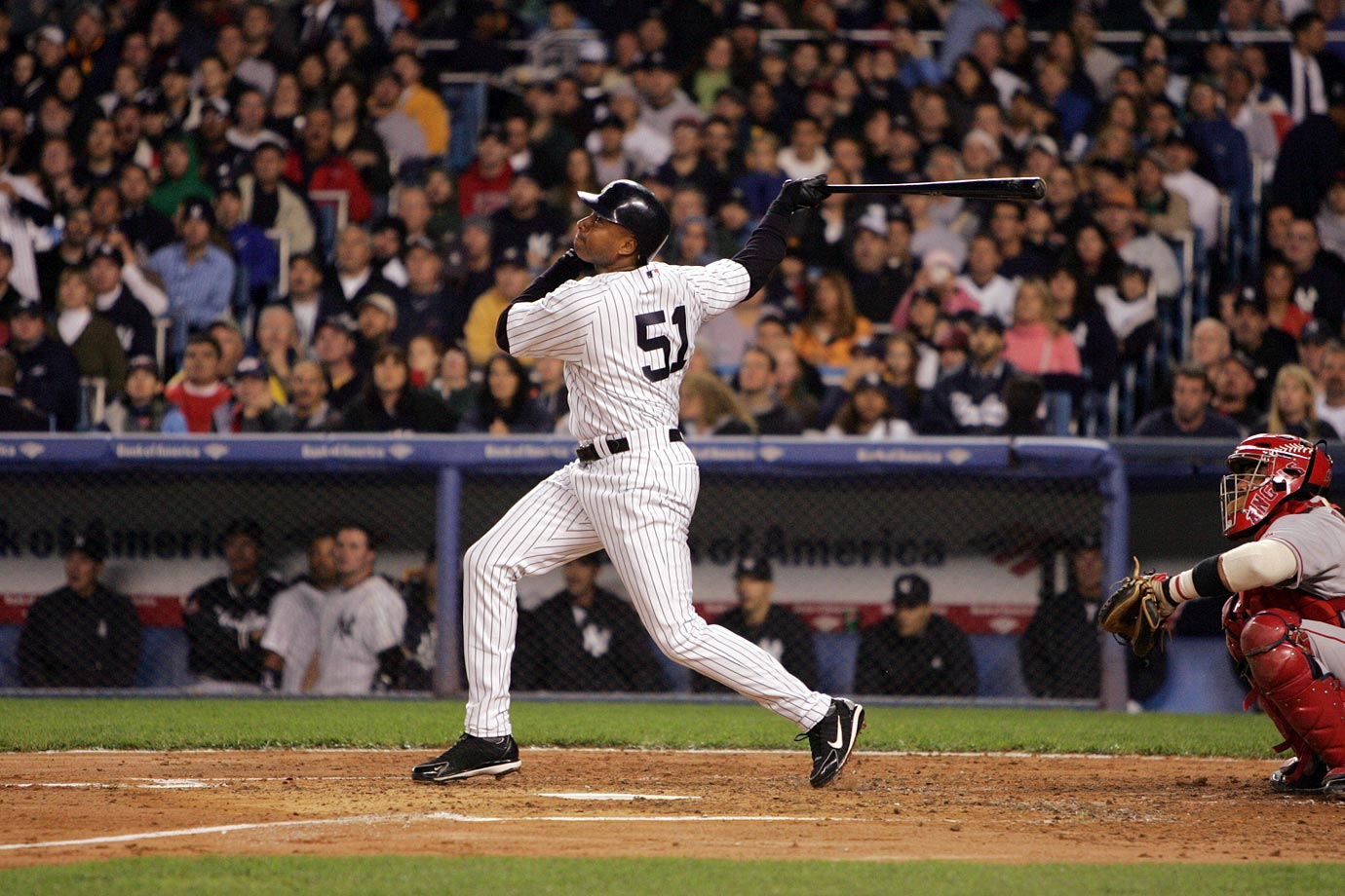 Williams, who played his entire 16-year career in pinstripes, was arguably the best player on New York's teams that won five American League pennants and four World Series championships from 1996-2001. He hit .302/.392/487 with 18 homers in 1995 while helping the Yankees back to the postseason, the first year of an eight-year stretch across which he hit .321/.406/.531 while averaging 24 homers. During that span, Williams won the 1998 AL batting title, made five straight All-Star teams (1997-2001) and won four Gold Gloves.