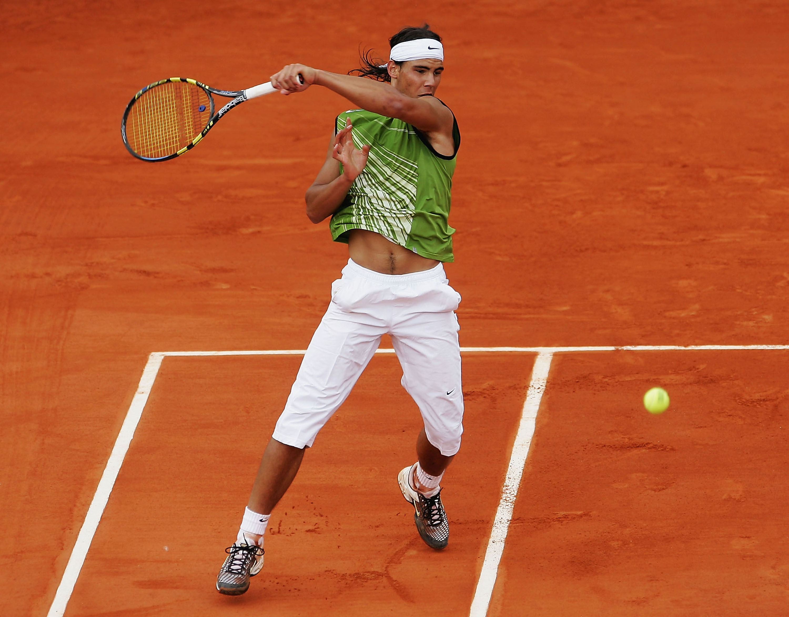 Nike put a green-spin on Rafa's signature style just in time for his maiden Grand Slam title at the French Open.