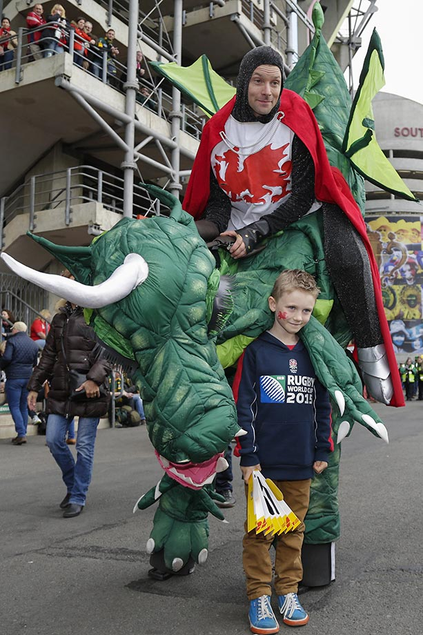 Fans at the Rugby World Cup in London.