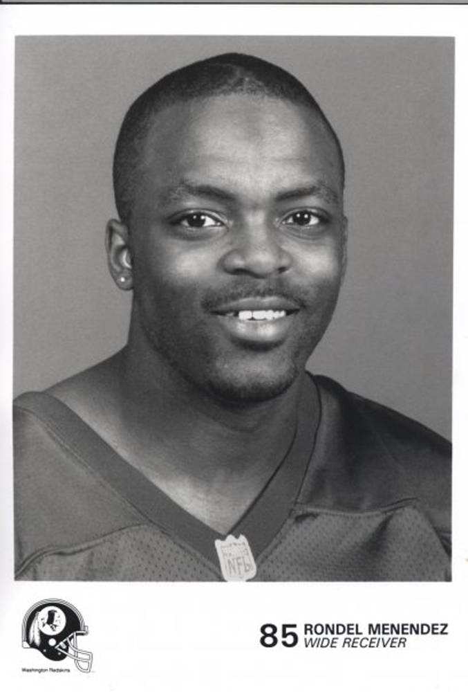 """Before Chris Johnson proclaimed to be the fastest man in the NFL, there was Rondel Menendez, who registered a 4.24 in the 40-yard dash in 1999. At the time, Menendez was the fastest man ever clocked in the 40 at the NFL Combine while using electronic timers. Since then, no one has beaten his or Johnson's """"official"""" mark. And according to Menendez, he recorded a time of 4.12 when officials used a hand timer, however, due to the style of his shoes (""""Nike waffle shoes""""), he had to run again. The 4.12 mark would tie Menendez with the fastest man in NFL Combine history."""
