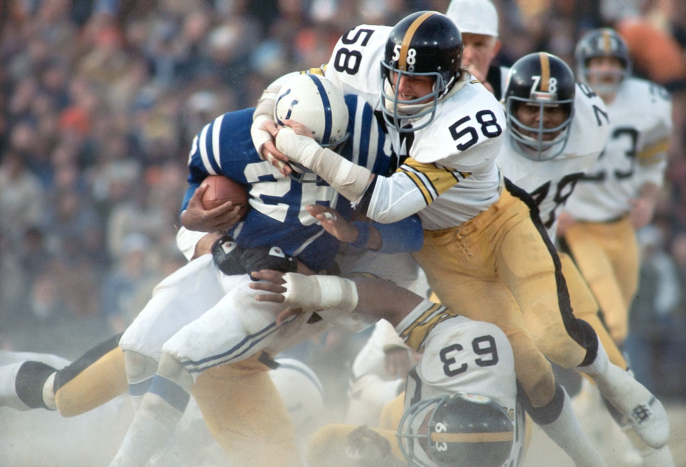 Lambert is best-known for his menacing, toothless glare, but he was also the key to Bud Carson's defensive schemes in the 1970s, when the Steel Curtain reigned supreme. Lambert was light, fast and utterly fearless, and he played every down with a frightening ferocity, but he was also one of the smartest linebackers ever to take the field.