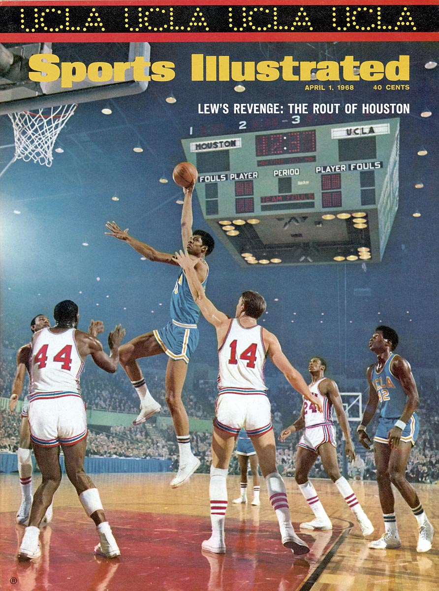 "FInal Four, April 1, 1968 | Lew Alcindor shoots his trademark skyhook as UCLA drubs Houston 101-69 in the national semifinals. Houston beat UCLA in January in what was dubbed ""The Game of the Century,"" but Lew Alcindor and the Bruins got the last laugh en route to the second of what would be seven straight national titles."