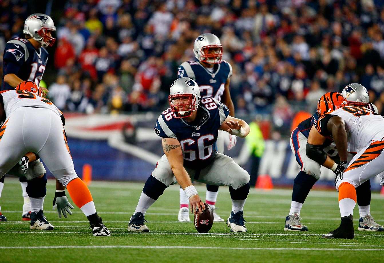 Bryan Stork (pictured) has the center position sewn up. It's up to Ryan Wendell to make the right guard spot his. Left tackle Nate Solder and right tackle Sebastian Vollmer have overcome early technical issues to become a formidable outside protection duo. Meanwhile, coach Bill Belichick expressed a clear desire to get younger and stronger along his line, selecting guards Tre Jackson (Florida State) and Shaq Mason (Georgia Tech) in the fourth round this spring.