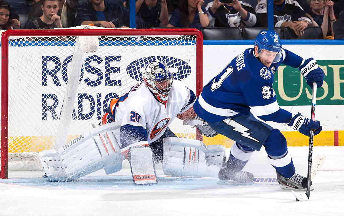 At 24, Stamkos, the first pick in the 2008 draft, has surpassed Alex Ovechkin as the NHL's most dangerous goal scorer. He's twice won the league's Rocket Richard Trophy, scoring 60 times in 2011-12. Despite missing considerable time due to a broken leg suffered in Nov. 2013, he came back and still managed to produce 25 goals in less than half a season while leading the Lightning to the playoffs.
