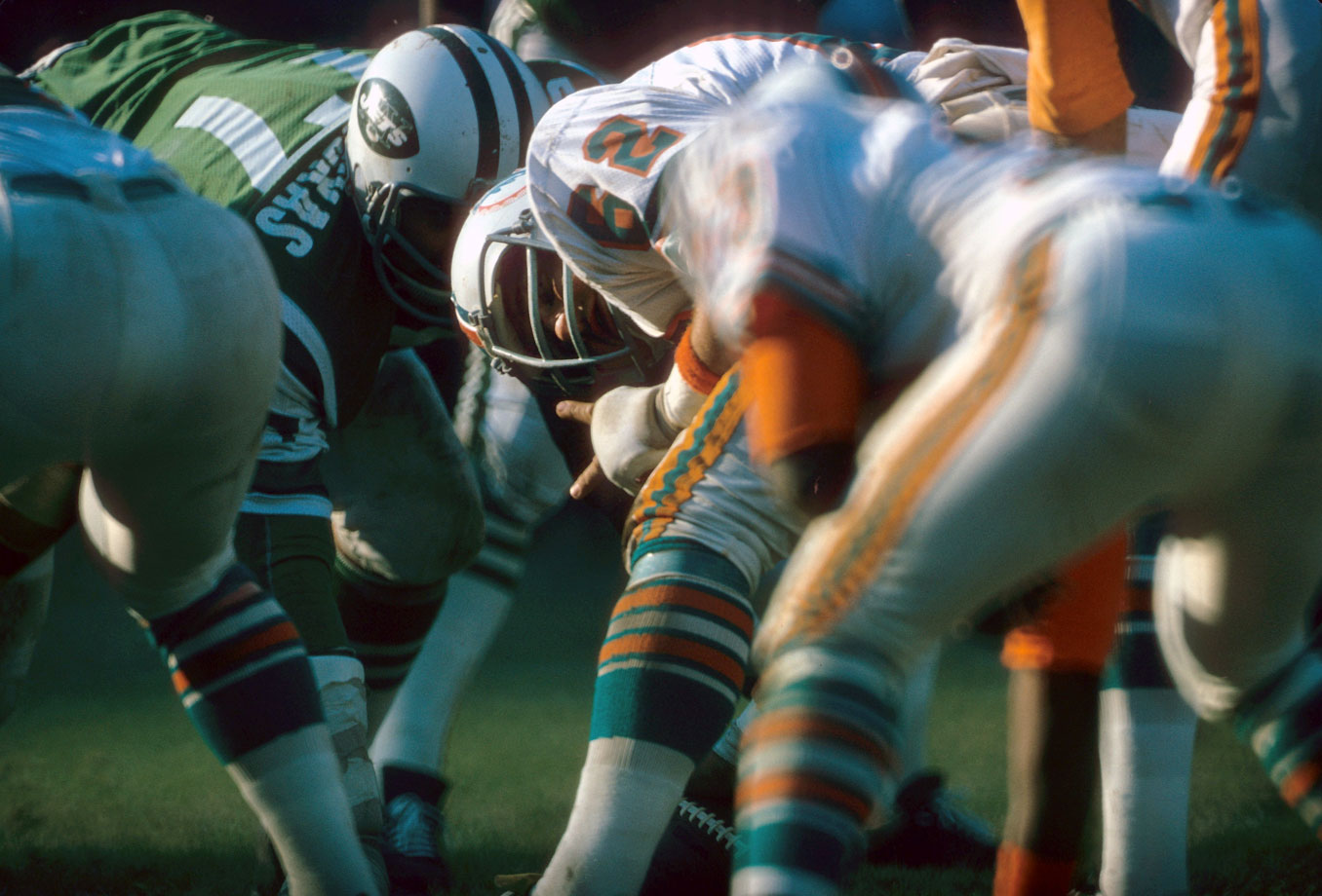 The center for one of the greatest offensive lines of all time in Miami in the early 1970s, Langer played his first season at center in '72, when he played every offensive down for the NFL's only undefeated team. He was named to six Pro Bowls and four first-team All-Pro squads and made the Hall of Fame's All-1970s team.