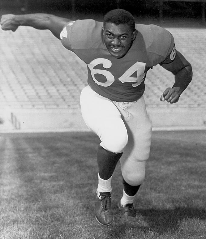 His 6-foot-5, 260-pound frame plowed through defenders. Brown was a unanimous All-America selection in 1963 as Nebraska finished 10-1 and won its first conference championship since 1940. — Runner-up: Jim Lachey, G, Ohio State (1981-84)