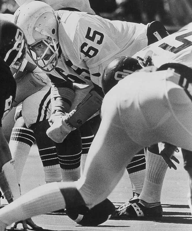Oklahoma called the majority of the plays to the side of the 1979 Outland Trophy winner, and for good reason: That season OU led the nation in scoring, rushing and was second in total offense. He was the fourth Sooner to win the Outland. — Runner-up: Joe Schmidt, LB/G, Pittsburgh (1950-52)