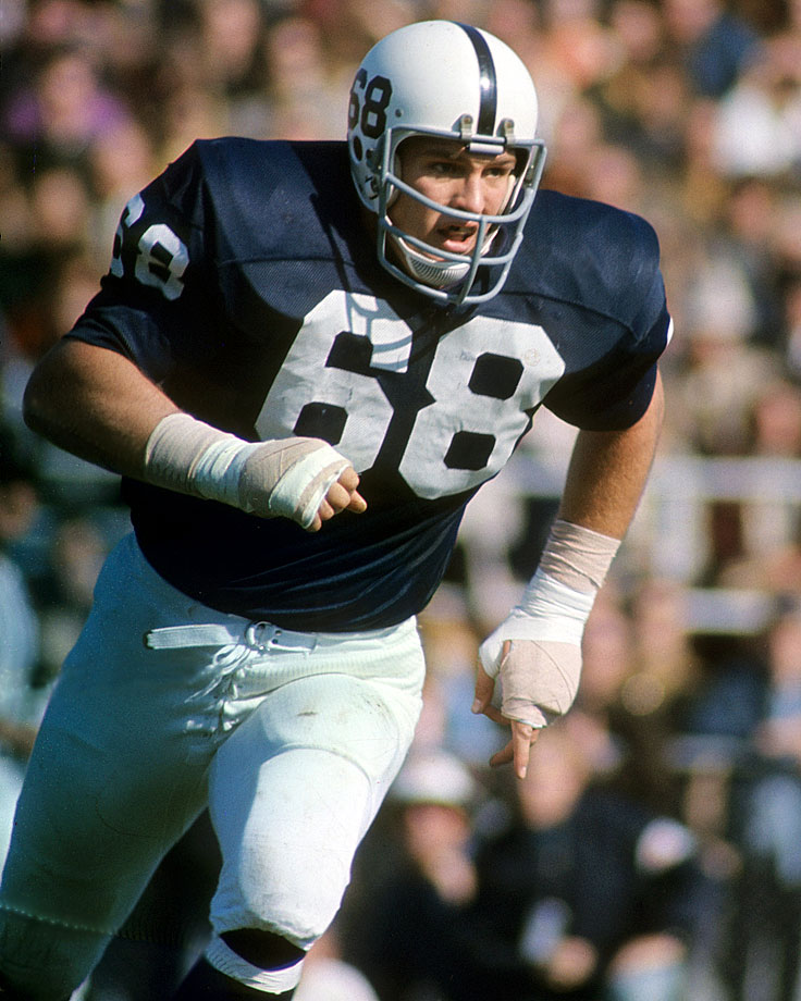 Reid's persistence and determination made him the anchor of the Nittany Lion defense. In 1969 he was a unanimous All-America selection, Outland Trophy winner and Maxwell Award recipient. — Runner-up: Jim Stillwagon, NG, Ohio State (1968-70)