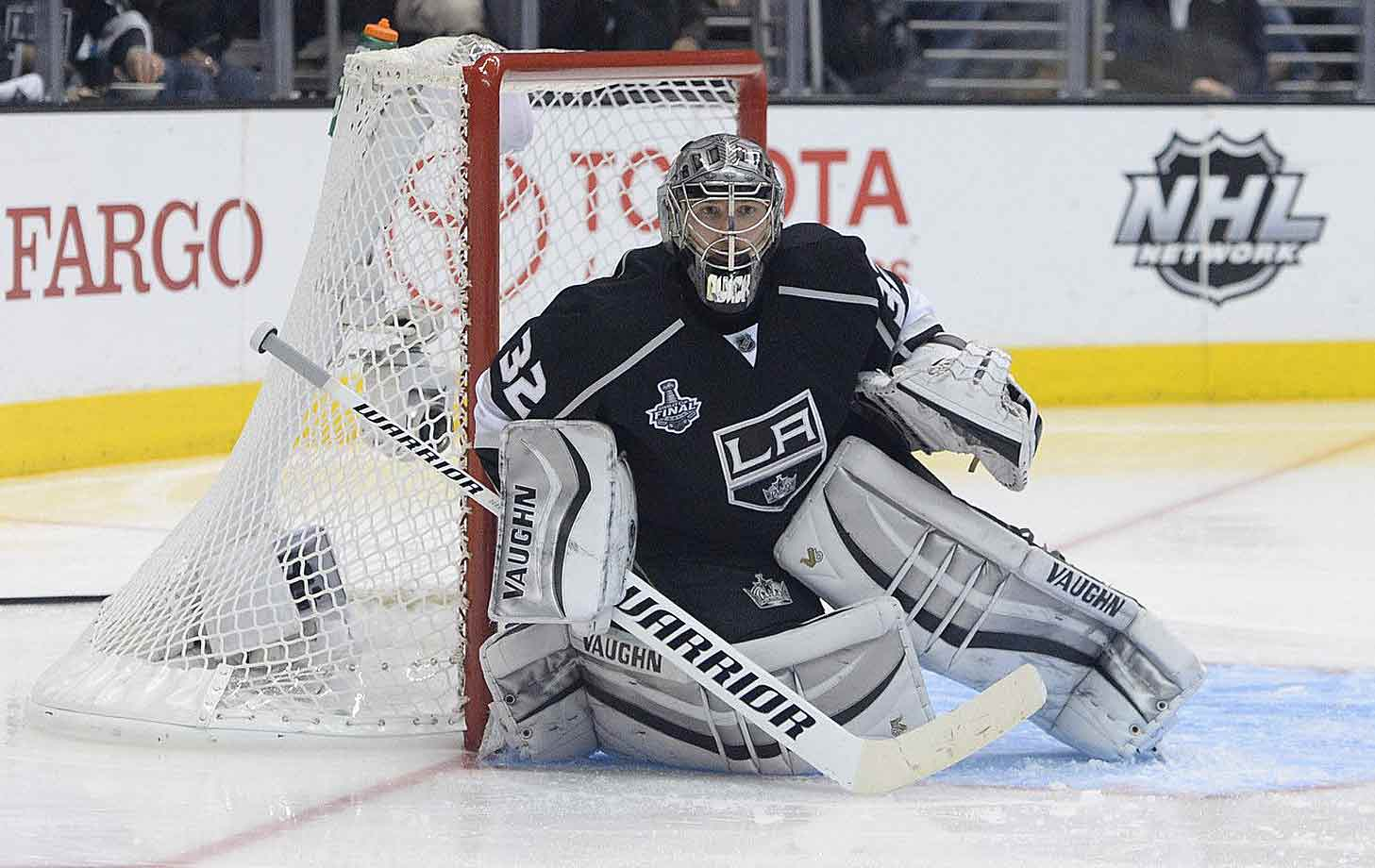 A two-time Stanley Cup champ and Conn Smythe Trophy winner in 2012, Quick has emerged as one of the stingiest goalies in the game. Despite weighing 220 pounds, he is so flexible and capable of covering the entire lower portion of the net that his teammates took to calling him Gumby. His combined marks in the 2012 and 2013 playoffs (.940; 1.63 over 38 games) are astounding.