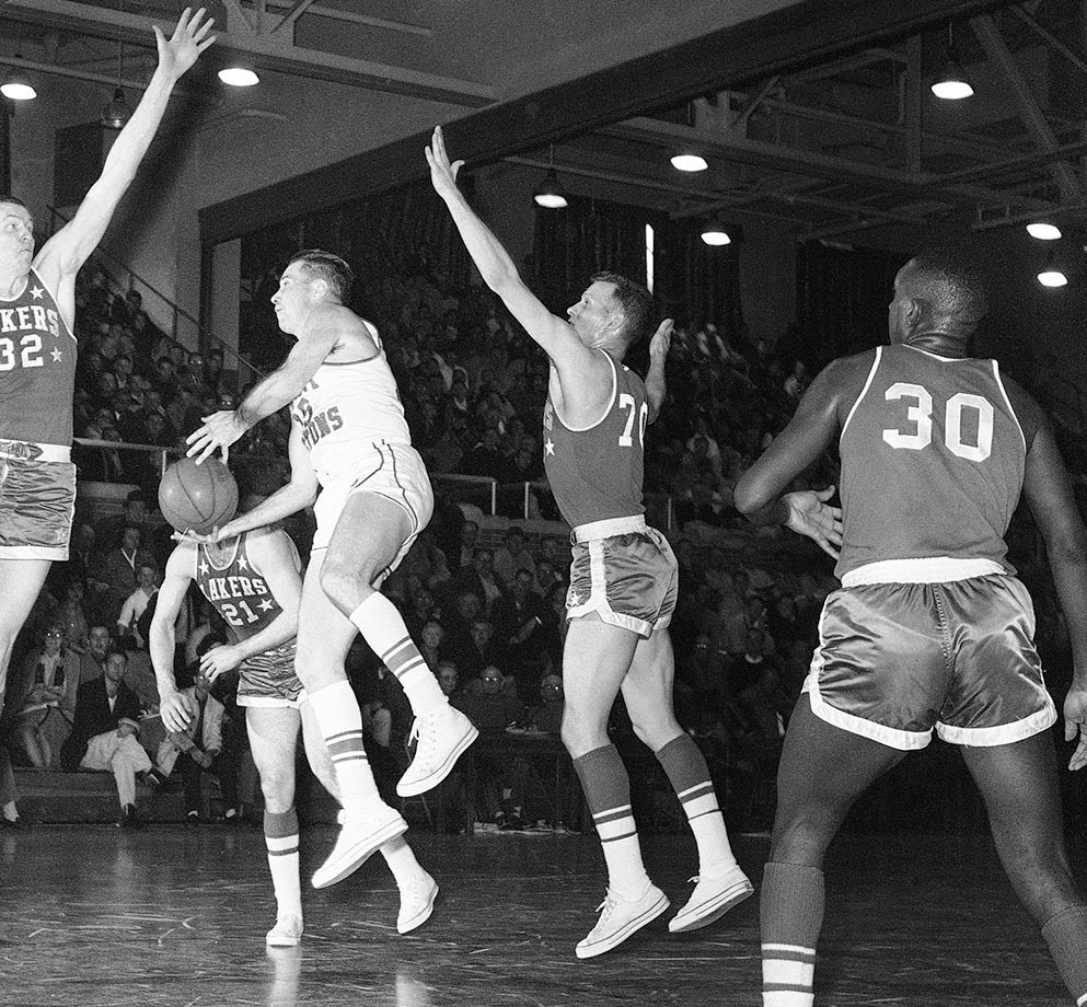 Selvy holds the NCAA Division I record for points in a game with 100 (yes, you read that right). He was the first overall pick in the 1954 NBA draft and averaged 10.8 points per game in ten seasons. Selvy was a two-time NBA All-Star and a teammate to Elgin Baylor and Jerry West with the Lakers.