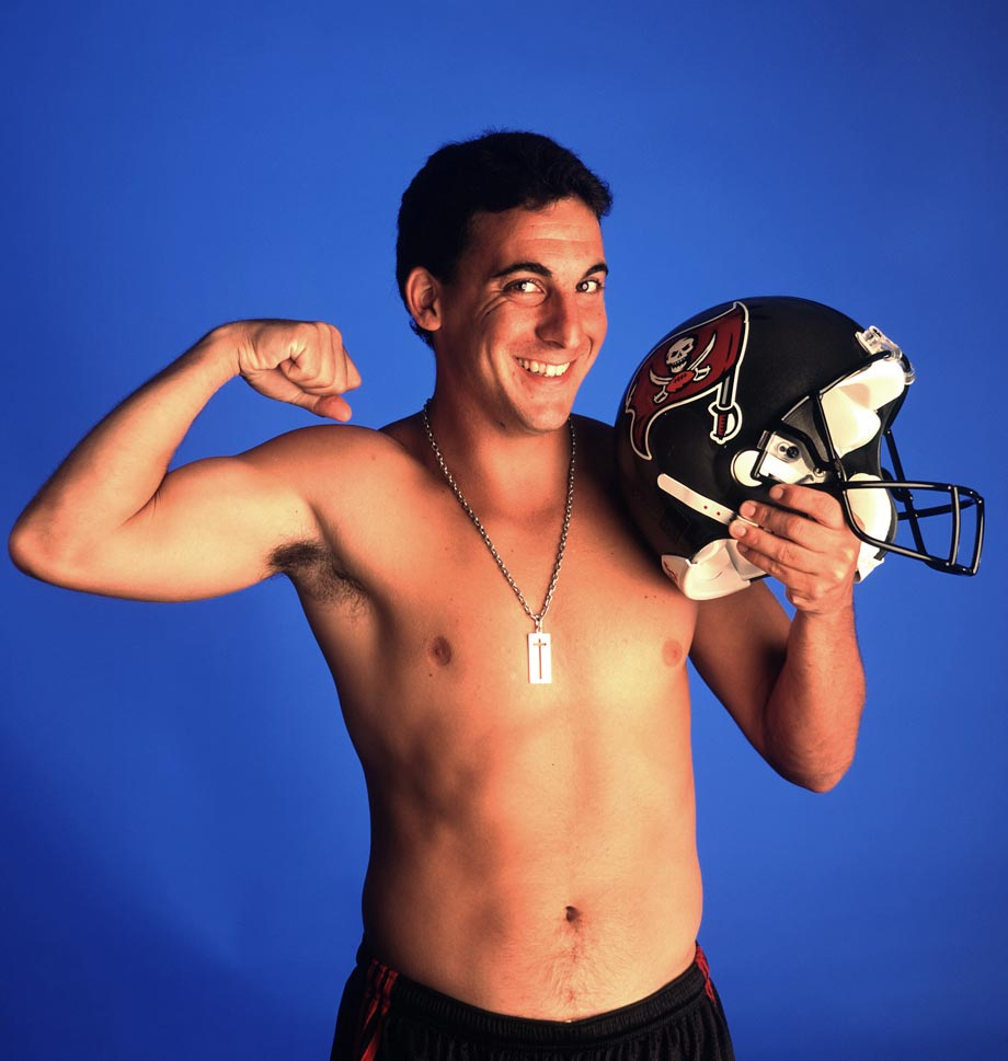 Placekicker isn't the most glamorous of positions, but in this photo Martin Gramatica milks it for all its worth. In his five seasons with the Buccaneers, Gramatica became enormously popular with fans and helped kick the team to a Super Bowl XXXVII win.
