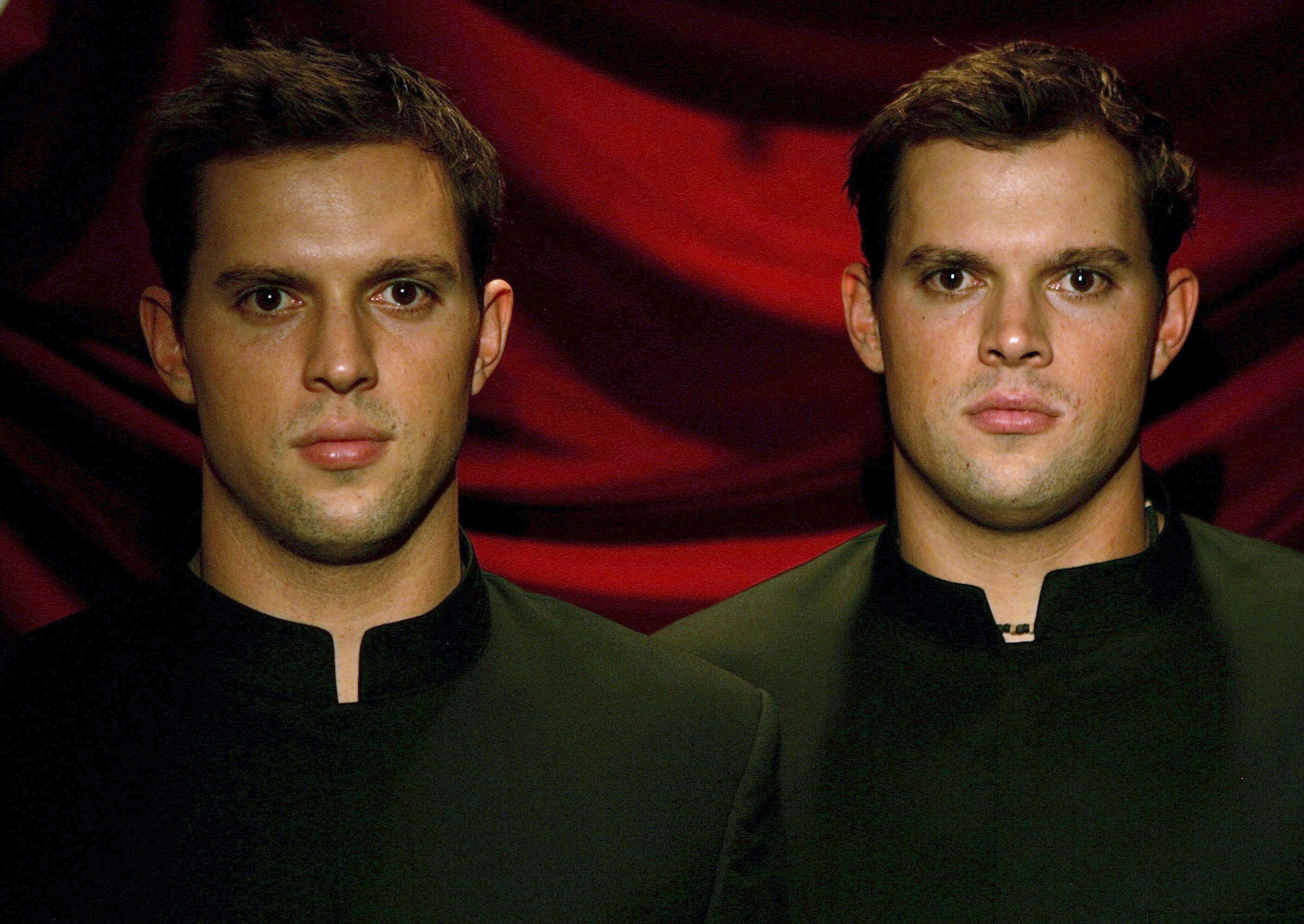 Mike and Bob Bryan for a portrait pose before the opening ceremony.