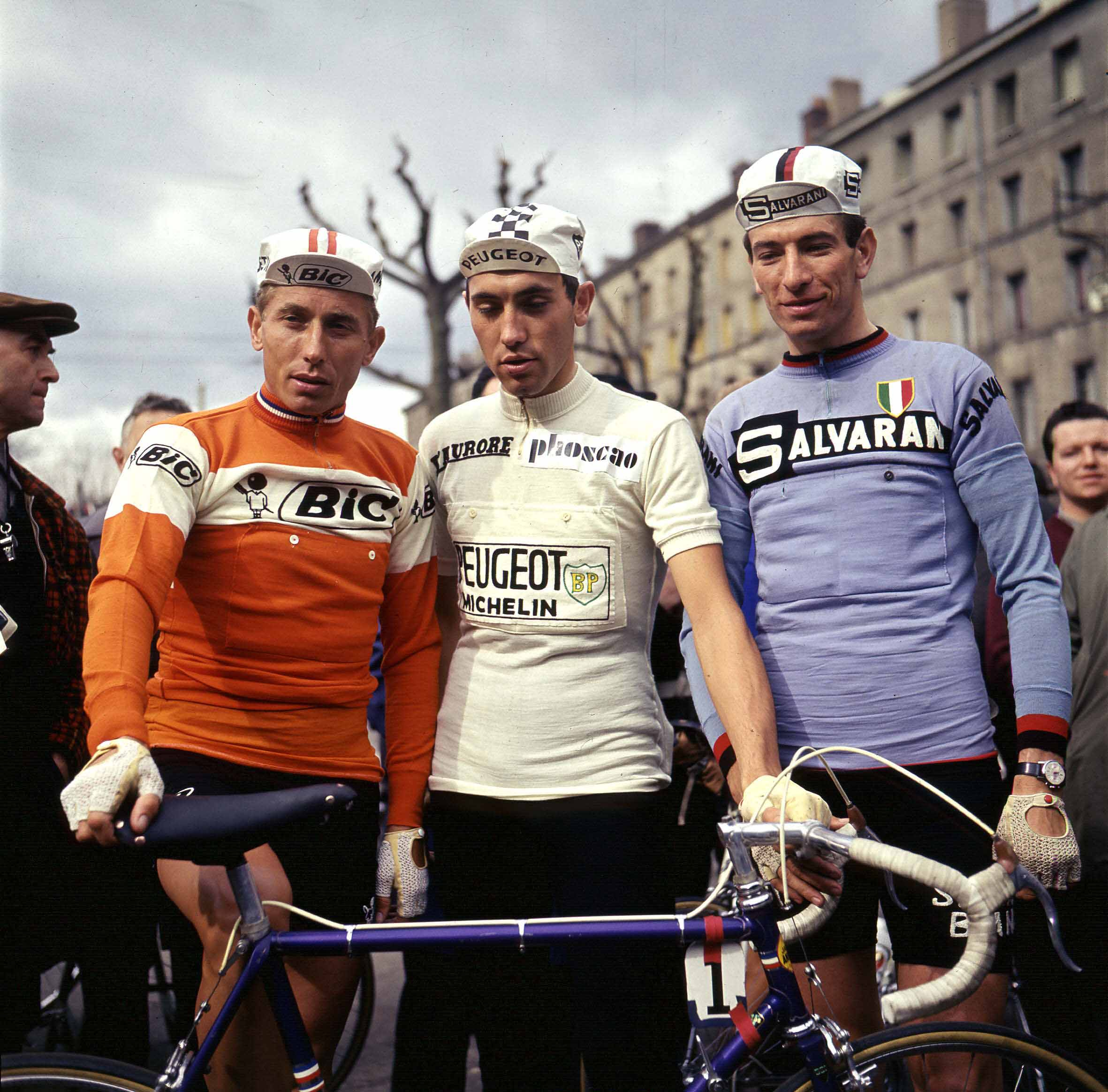 Cyclists Jacques Anquetil, Eddy Merckx and Felice Gimondi were the three winners of the Tour de France in 1970.