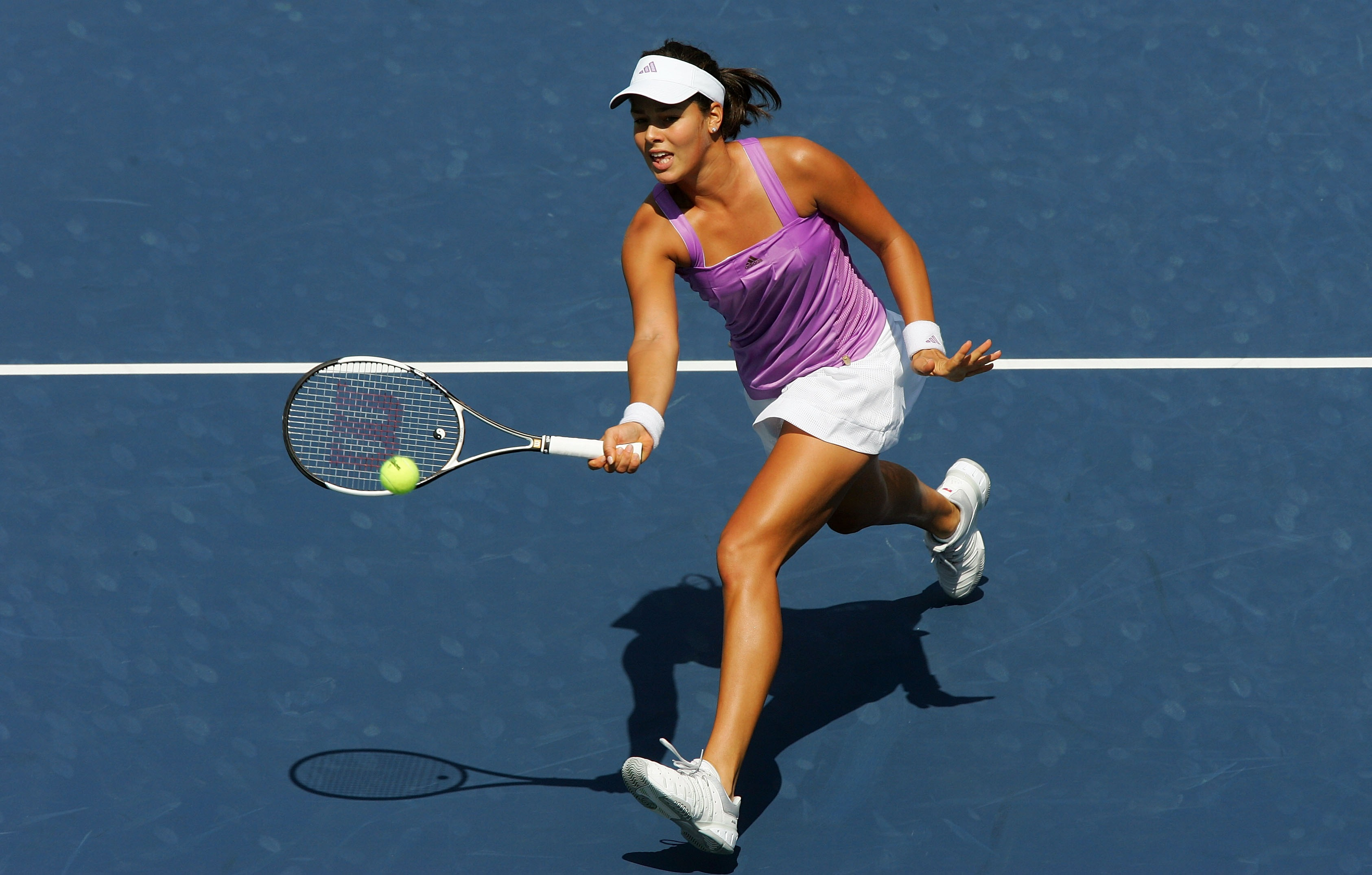 Ivanovic at the U.S. Open. One of Ivanovic's freshest looks.