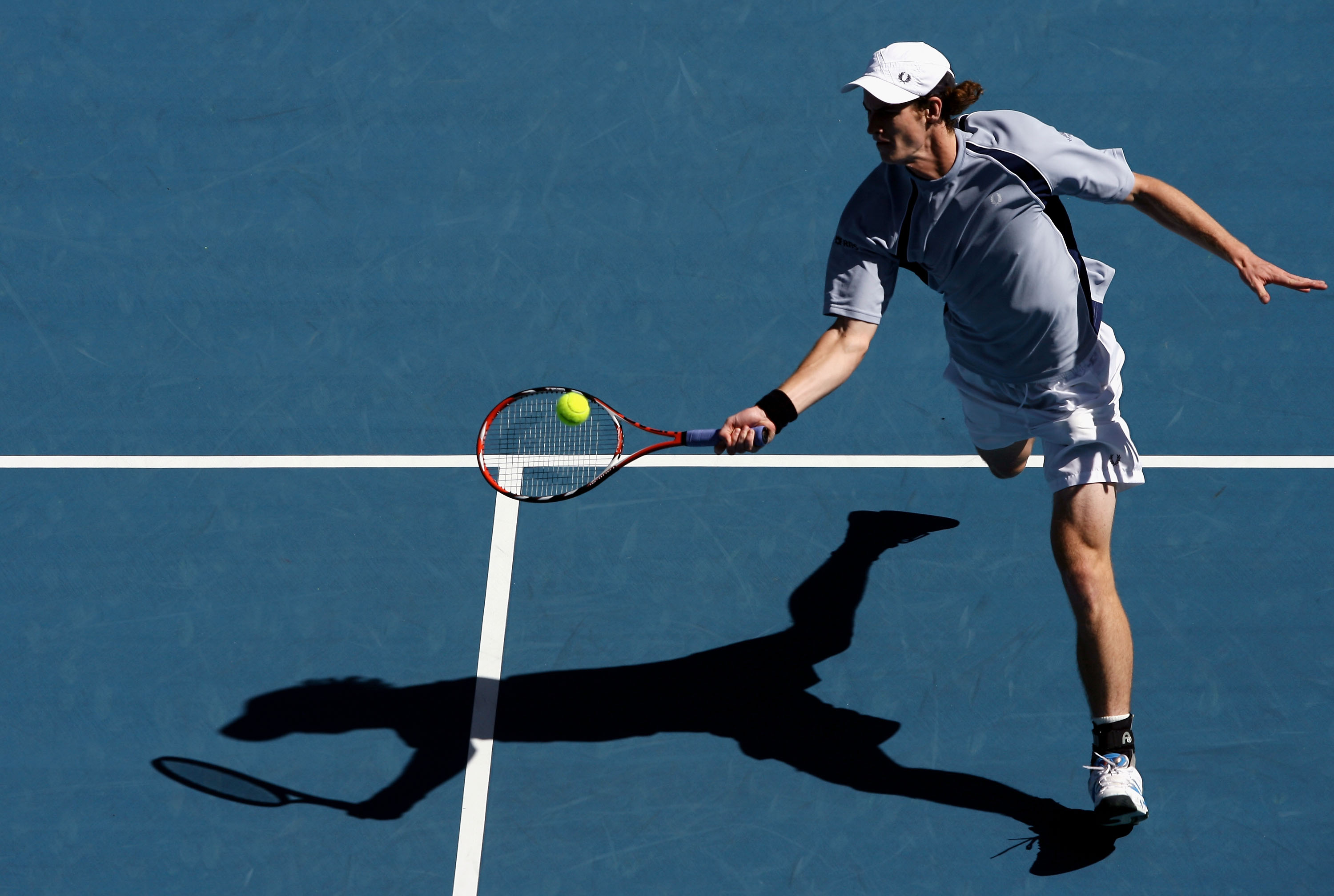 In drab grey, Murray lost to Jo-Wilfried Tsonga in the first round of the Australian Open.