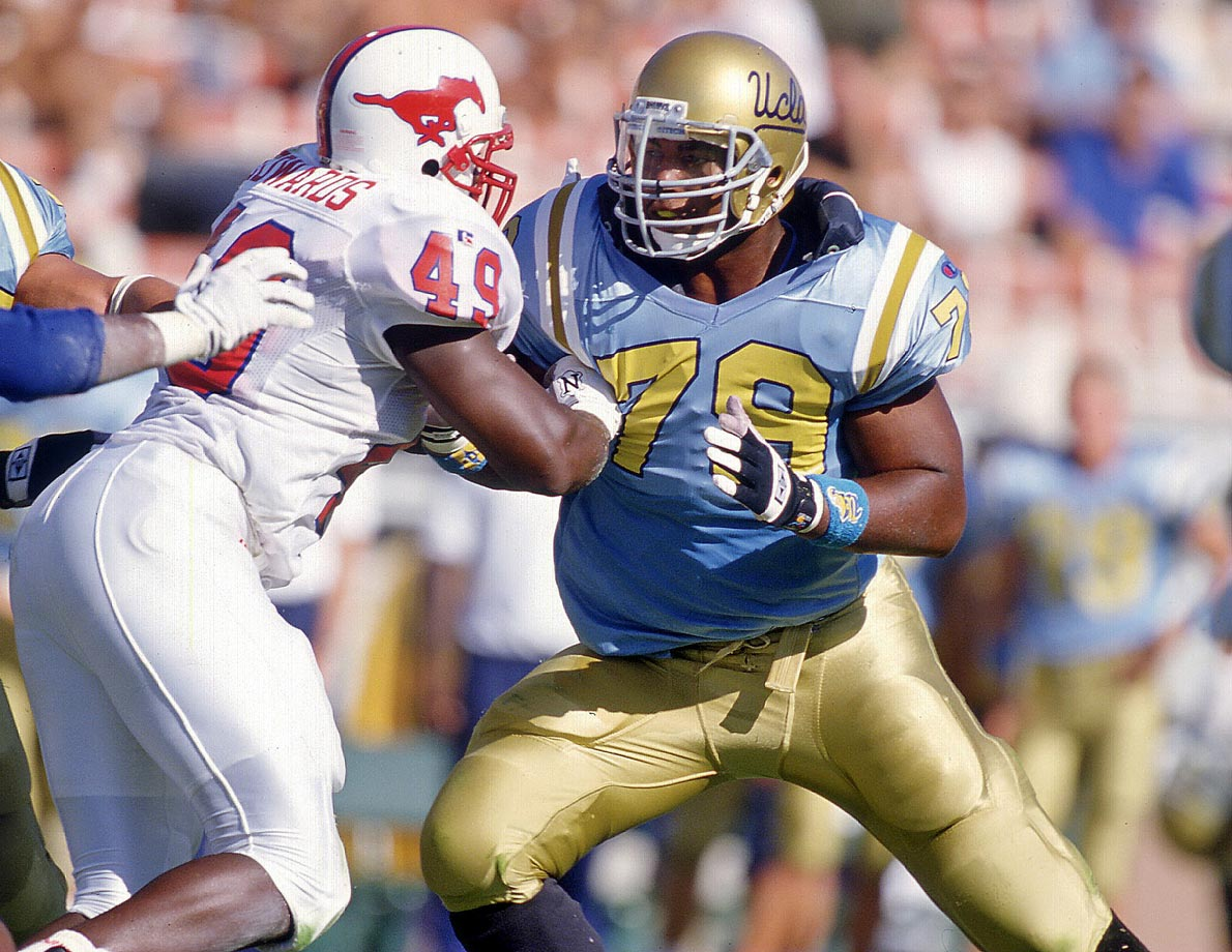 He's one of the best offensive linemen to ever play in the Pac-10. Ogden started four years at left tackle for UCLA and also participated on the Bruins' track & field team (shot put). In 1995, he earned first team All-America honors, was named the United Press International's Lineman of the Year and was given the Outland Trophy, which is awarded to the nation's best interior lineman.  — Runner-up: Buck Buchanan, T, Grambling (1959-62)