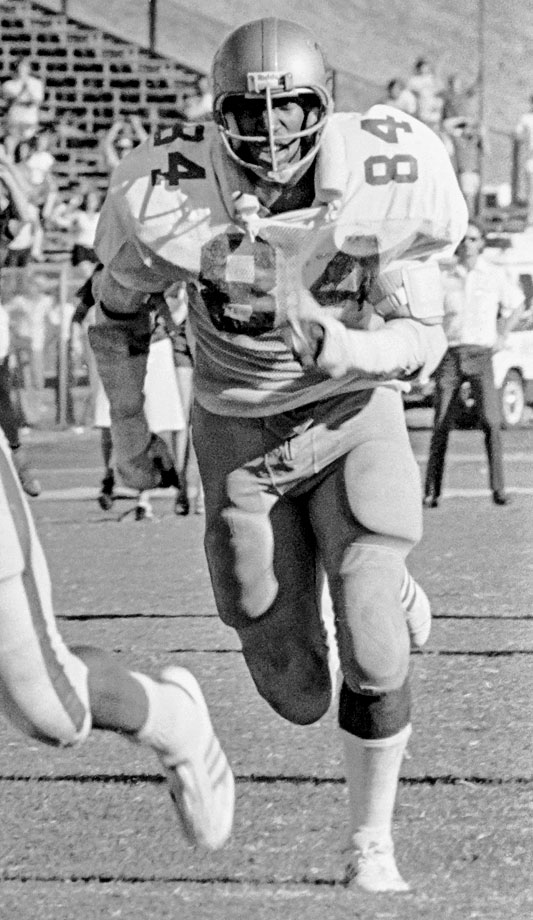 Robinson is one of a handful of players (along with Wood) who were named All-America in three different years. He set a school record for most tackles in one game with 28 against Air Force in 1976. — Runner-up: Abe Mickal, RB, LSU (1933-1935)