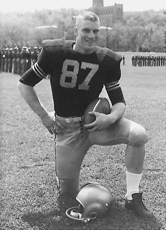 Before Carpenter made his living as a military officer, he made his mark on the gridiron. Nicknamed the ''Lonely End,'' Carpenter stood 20 yards away from his teammates when they huddled up. In 1959 he caught 43 passes for 591 yards and three touchdowns. — Runner-up: Chad Hennings, DE, Air Force (1984-87)