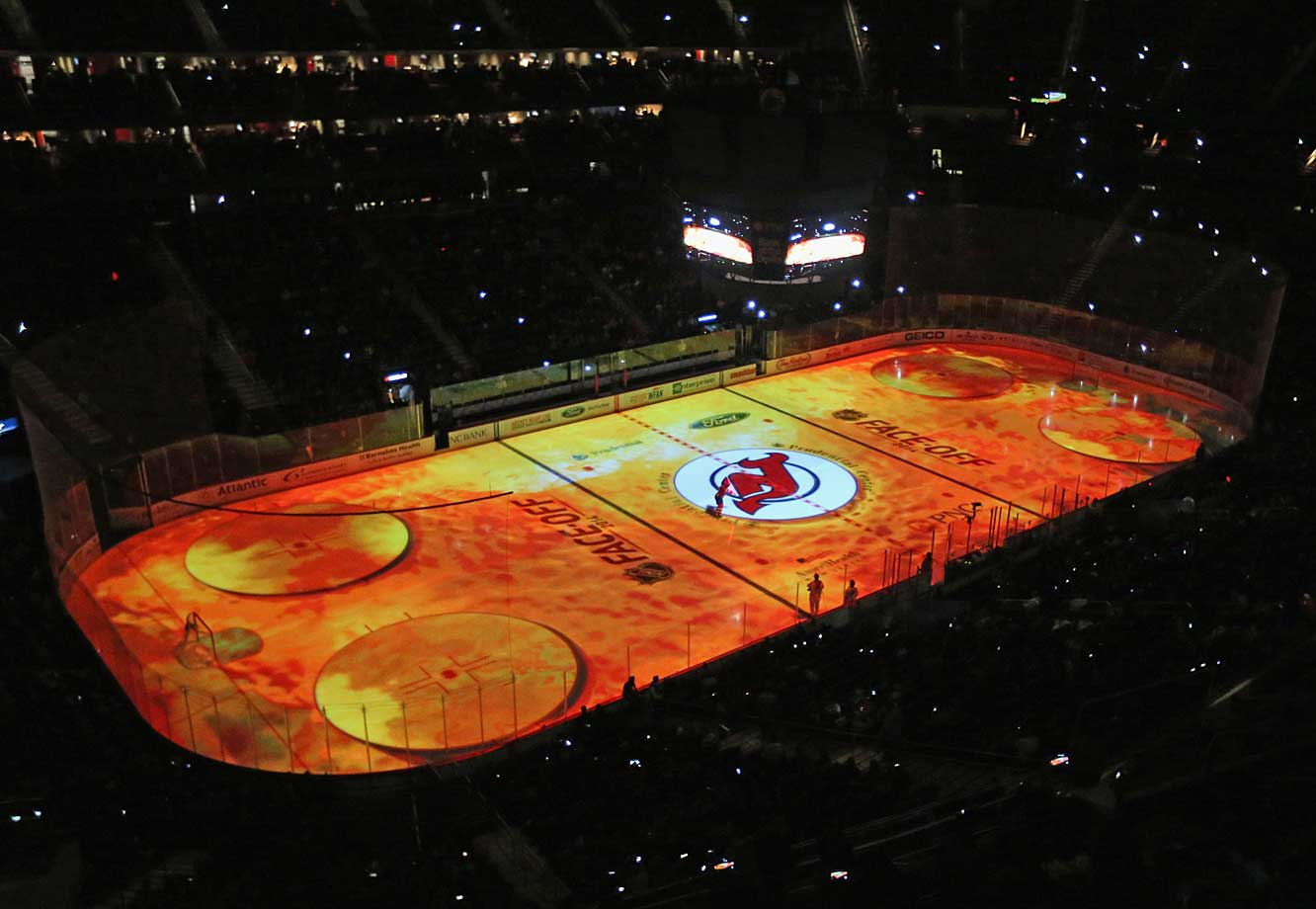 Speaking of barn burners, the Devils unveiled their spiffy new 3D projection system before their home opener against the Sharks at the Prudential Center in bucolic Newark, NJ, on Oct. 18.